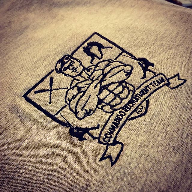 Some detailed embroidery for the Commando Recruitment Team #embroidery #commando #tshirts #exeter #devon #roarclothinguk