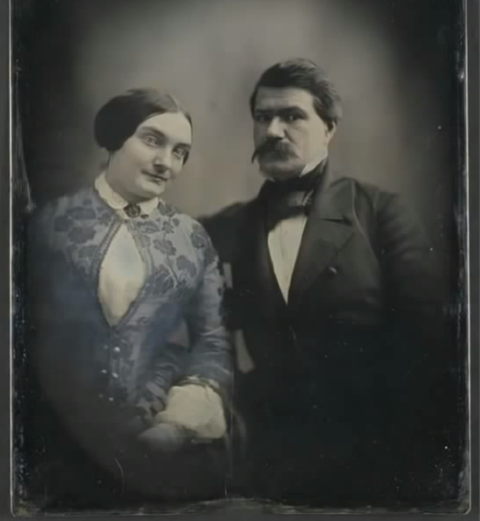 Southworth & Hawes, Unidentify Man and Woman, ca. 1850, Whole plate daguerrotype. George Eastman House, Gift of Alden Scott Boyer.