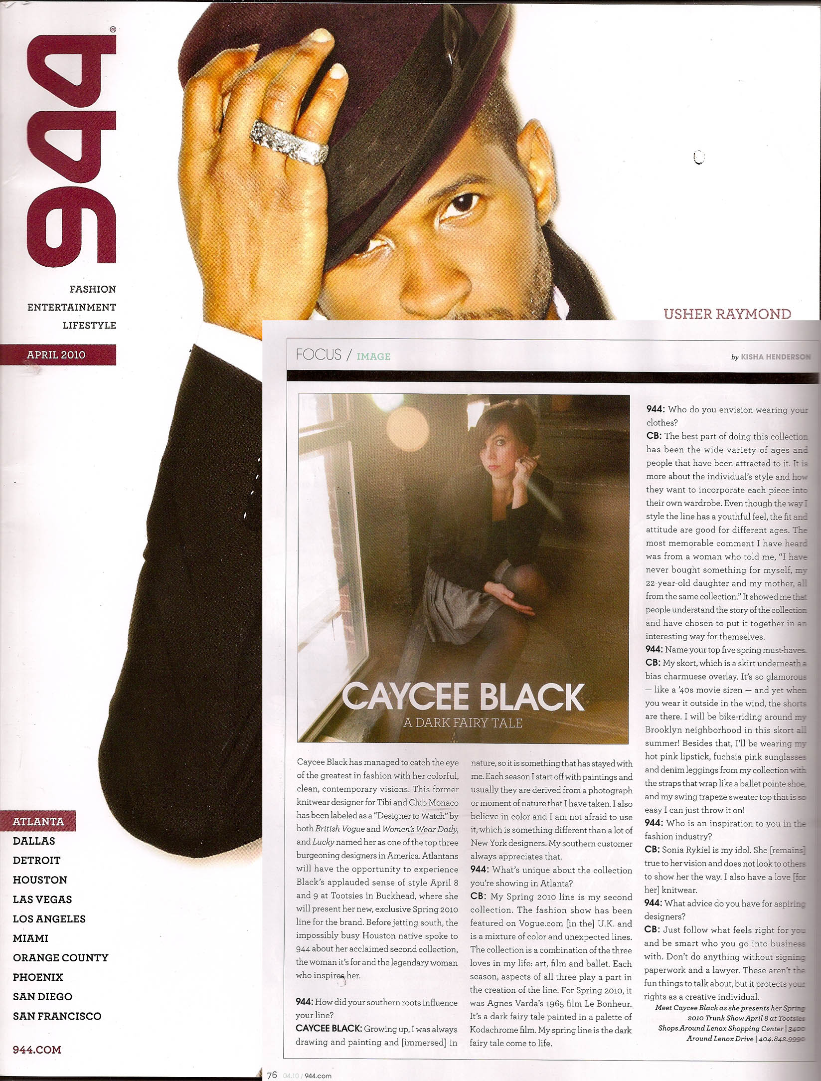 Contemporary Fashion Design - Caycee Black Collection - Usher