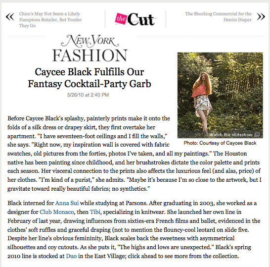 The Cut - New York Fashion - Fantasy Cocktail Party Outfits