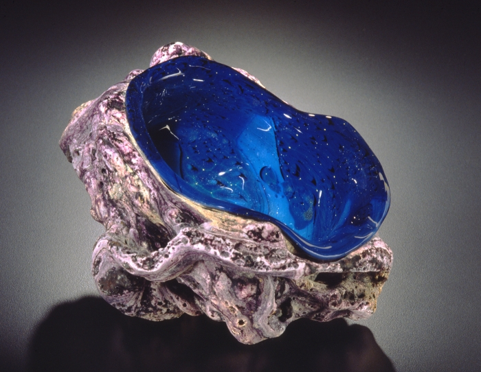 Blue New Mexico Tektite Sculpture