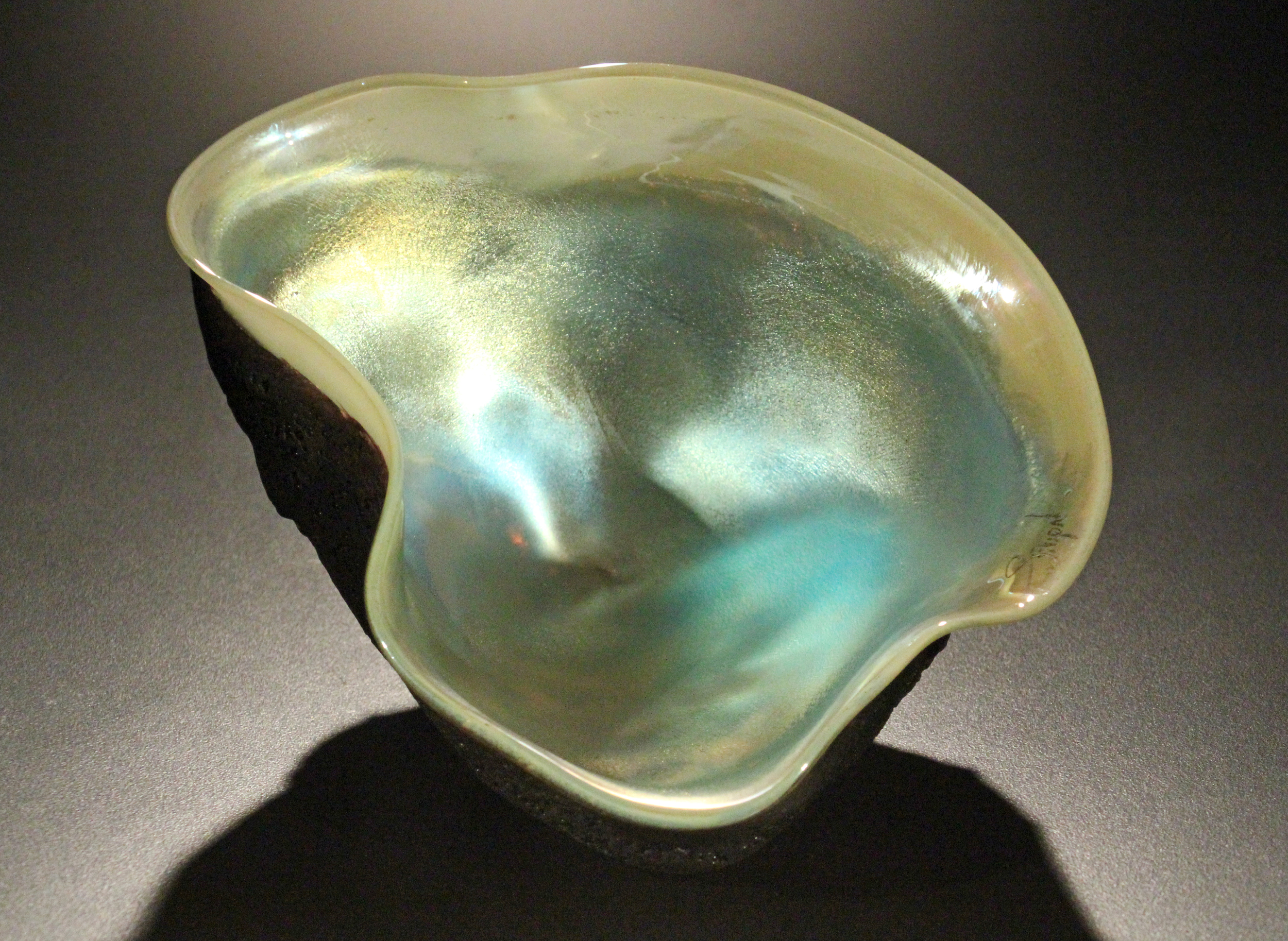Iridescent Tektite Sculpture