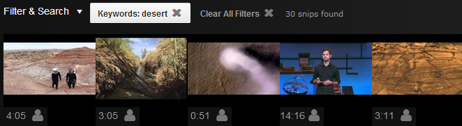Click the filmstrip for more video snips on EZSnips