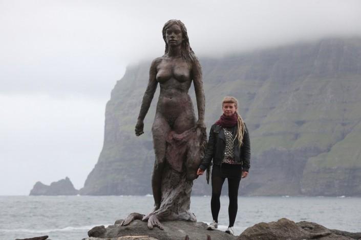 Astrid Haack, modellin til Kópakonuna og standmyndin. Mynd: Norðlýsið