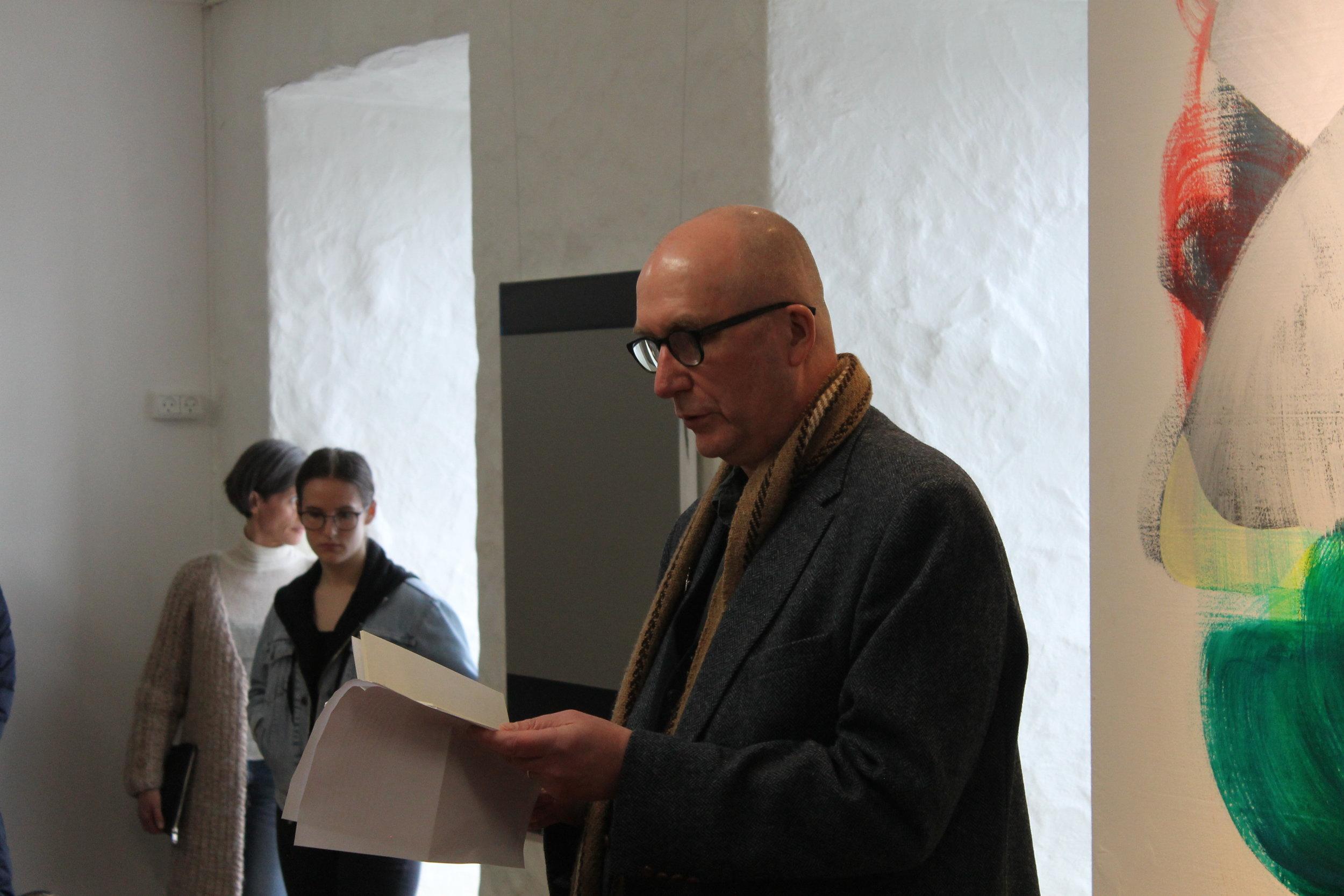 Carl Jóhan Jensen las upp