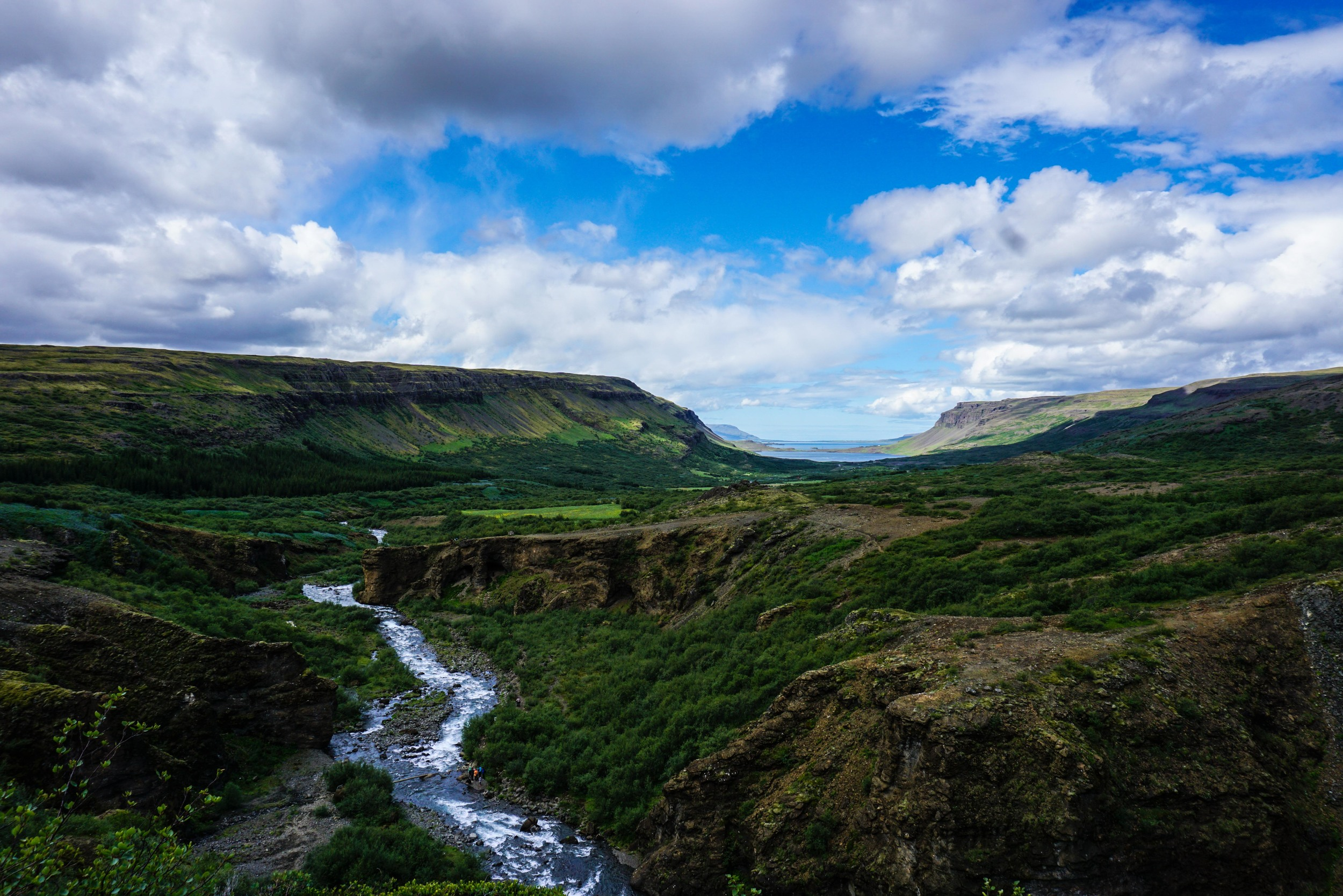 View from Glymur