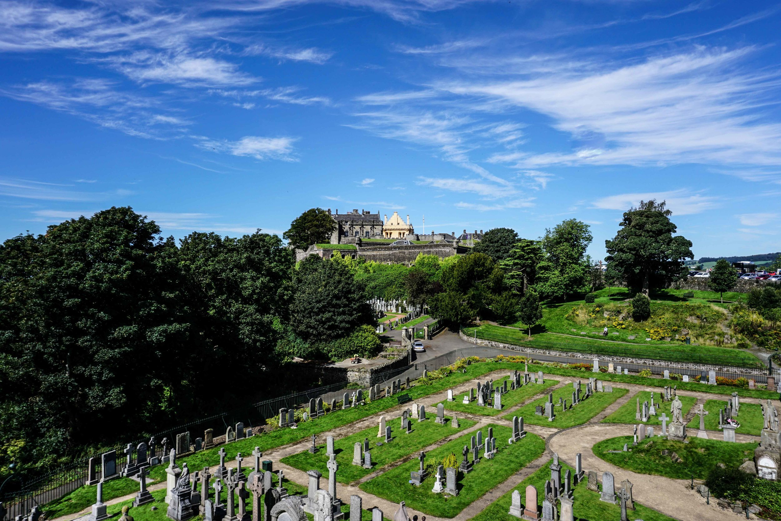 Stirling Castle (now discovering we spent a lot of time in cemeteries...)