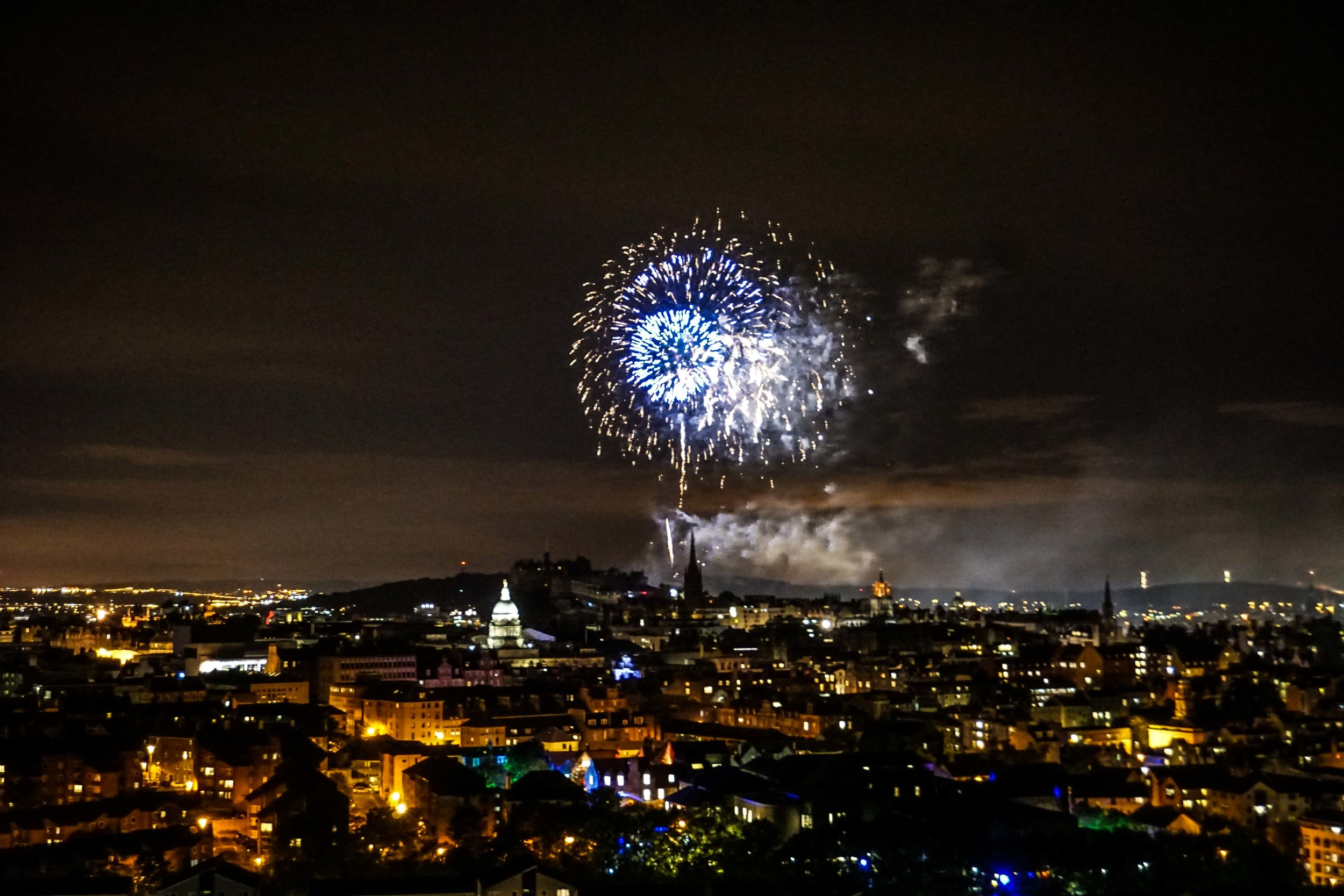 Fireworks at the end of Fringe Fest