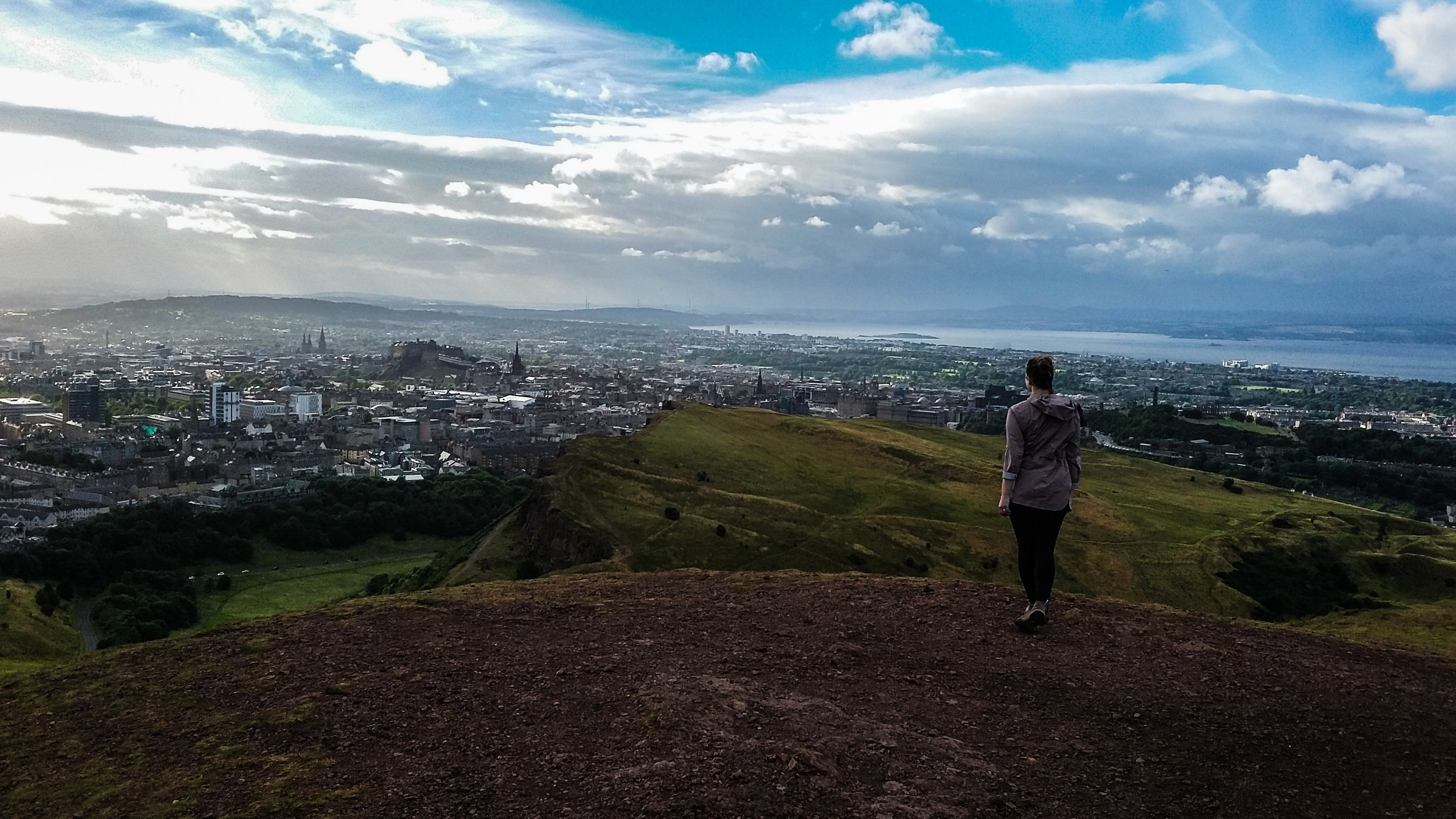 Gorgeous Edinburgh from Auther's Seat