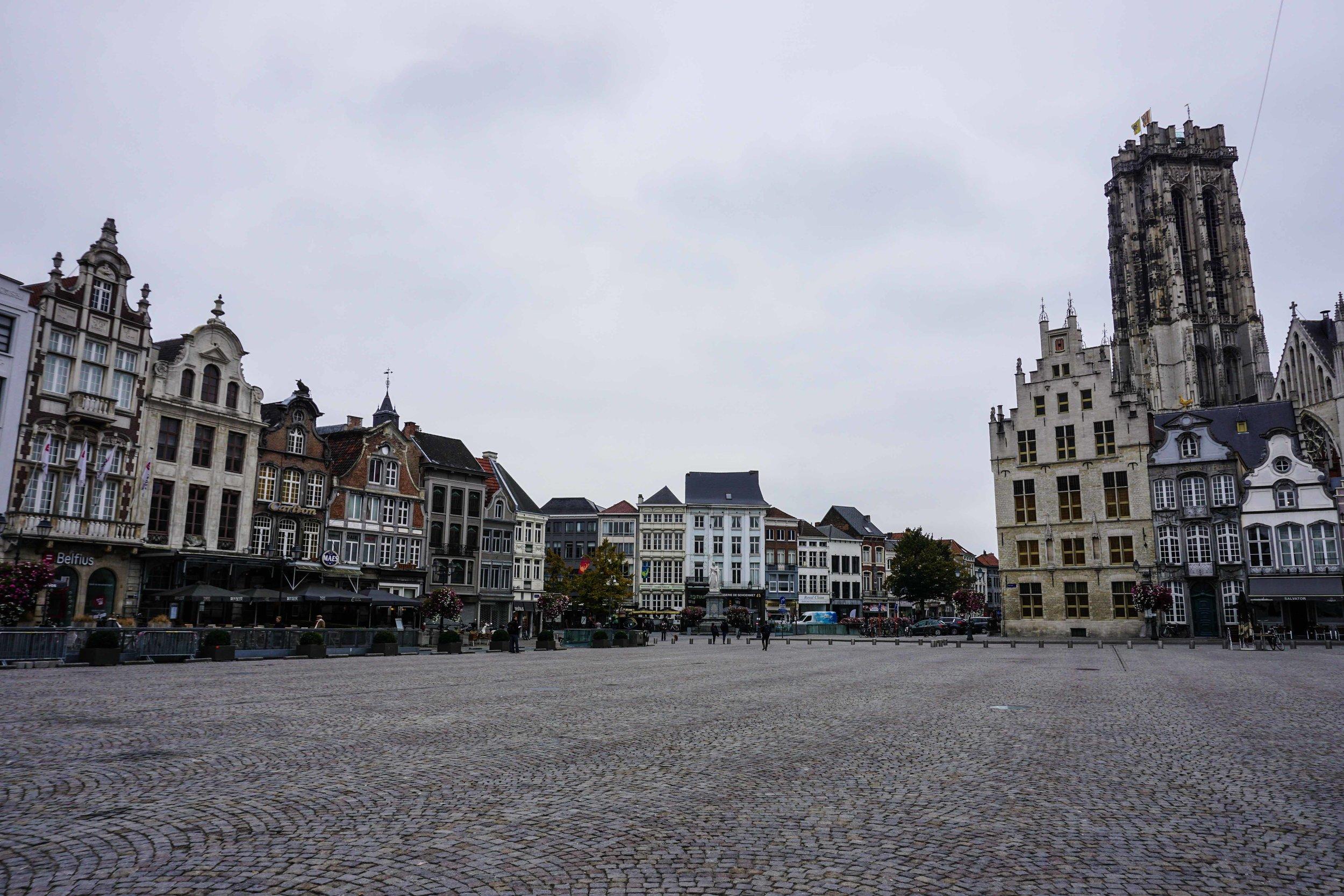 Mechelen city center square