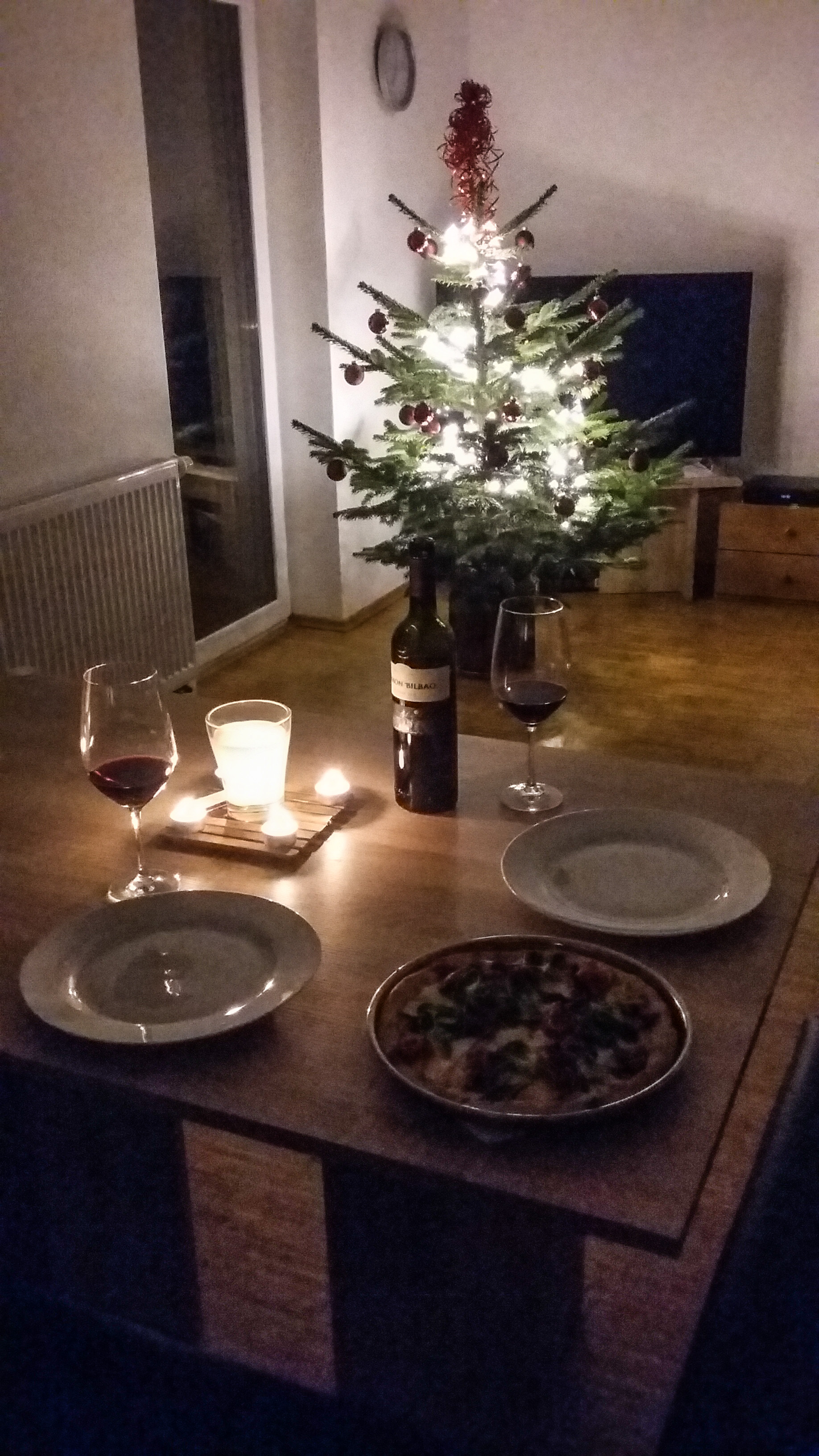 Christmas Eve Magic dinner - that is homemade pizza (with homemade dough!)