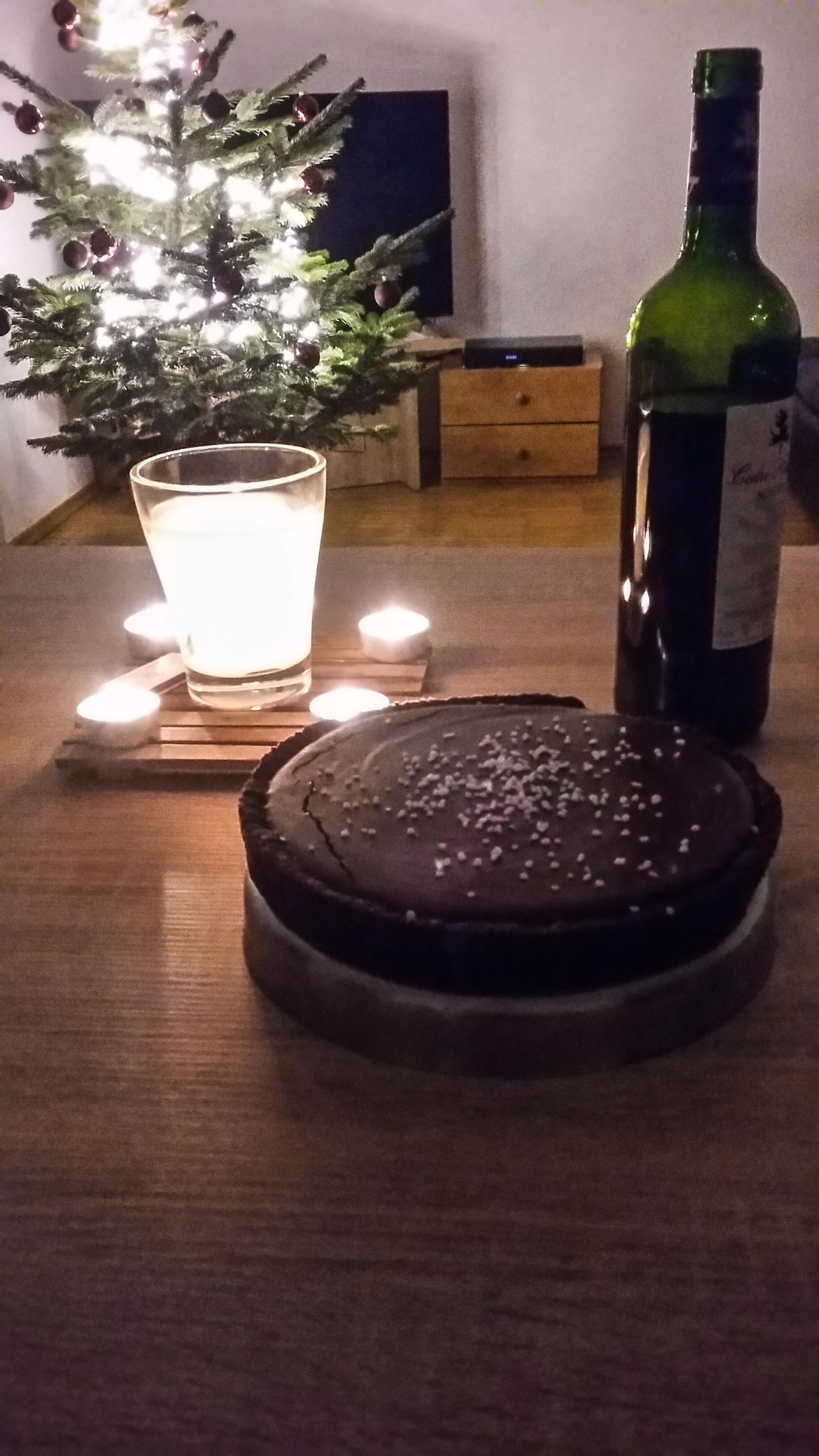 Salted Caramel Dark Chocolate Tart