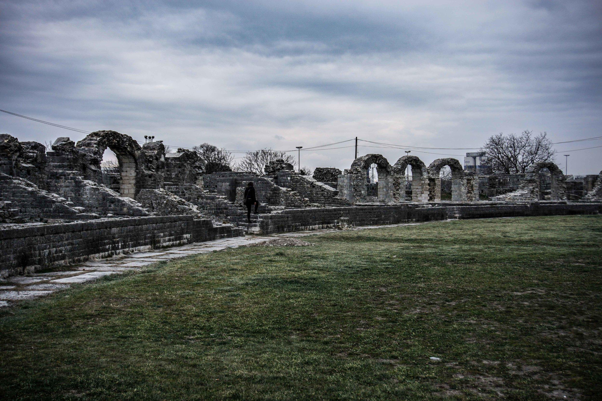 Salona arena ruins