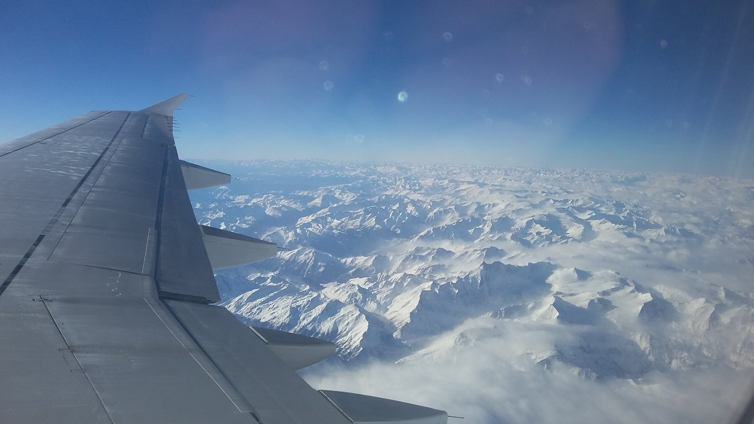 Italian Alps from the plane
