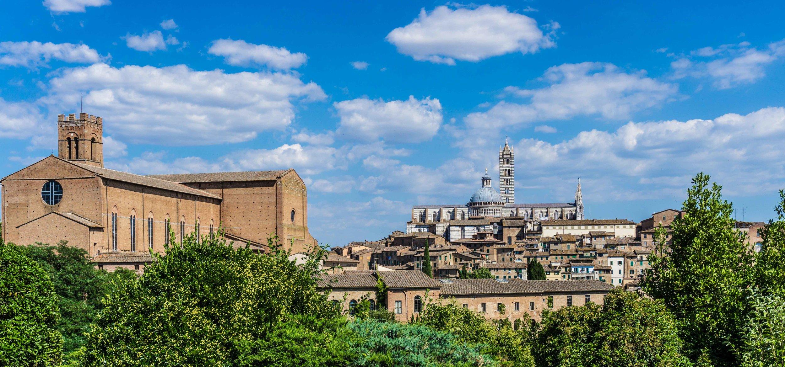 Siena on a hillside