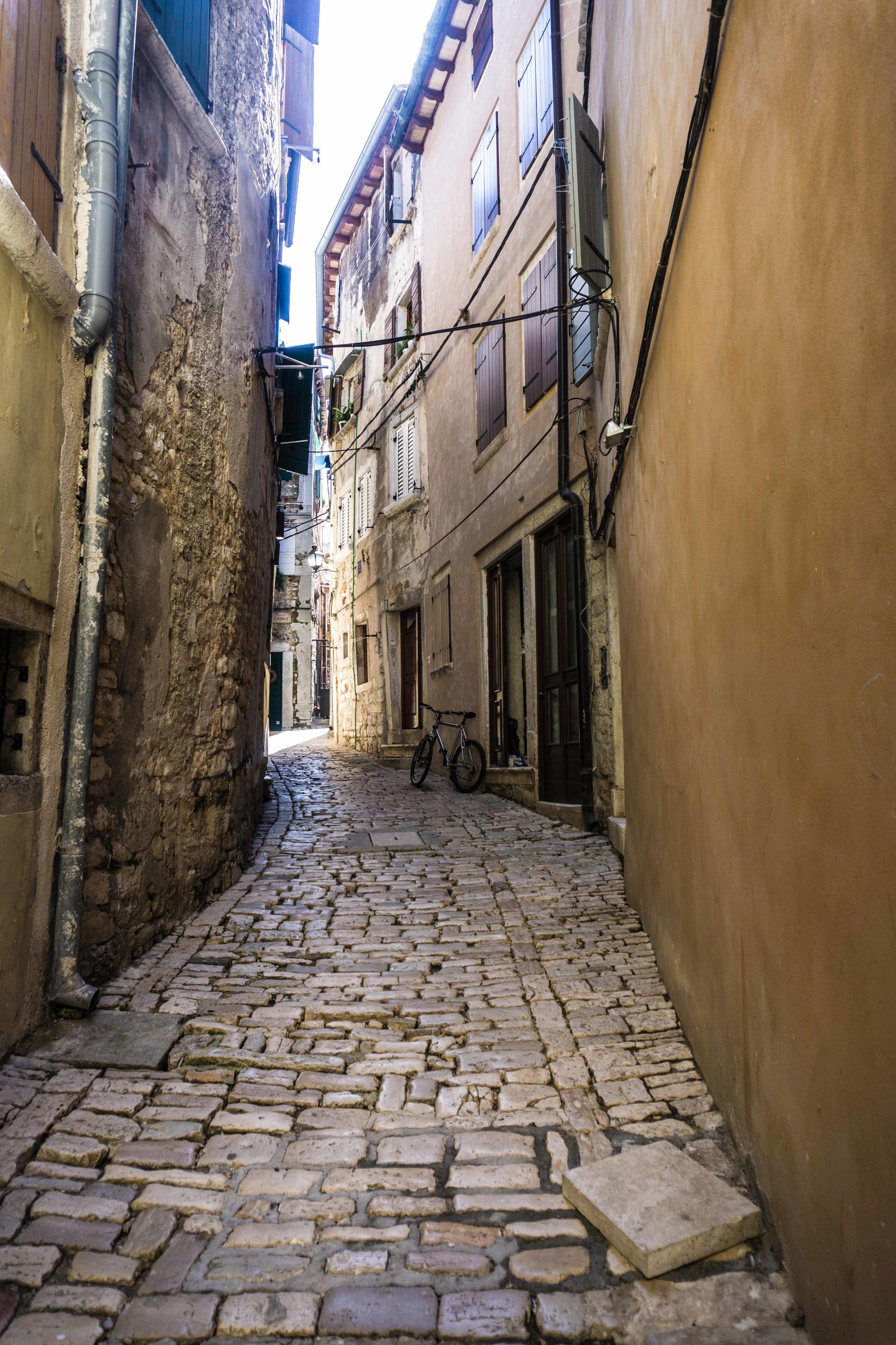 Uphill streets of Rovinj