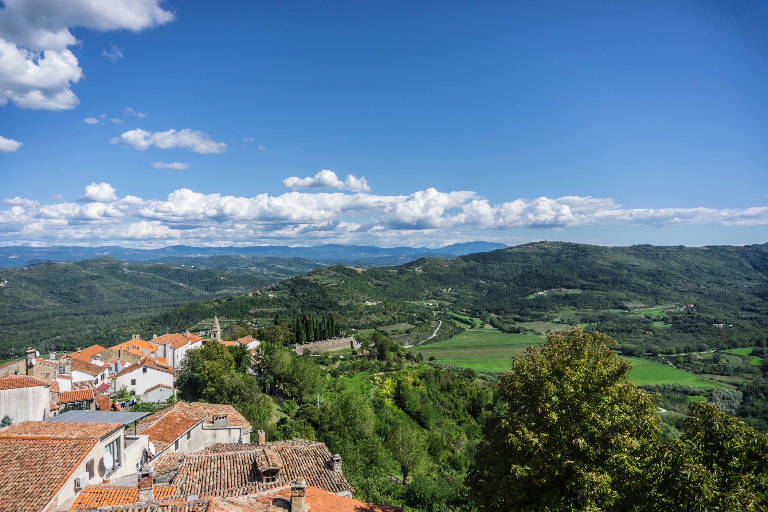 View from the top of Motovun