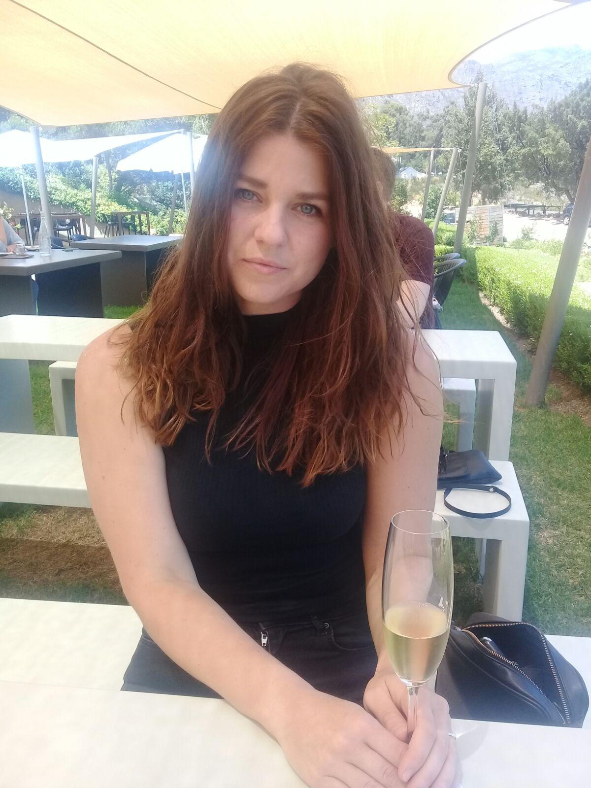 Me in my natural habitat (wine tasting)