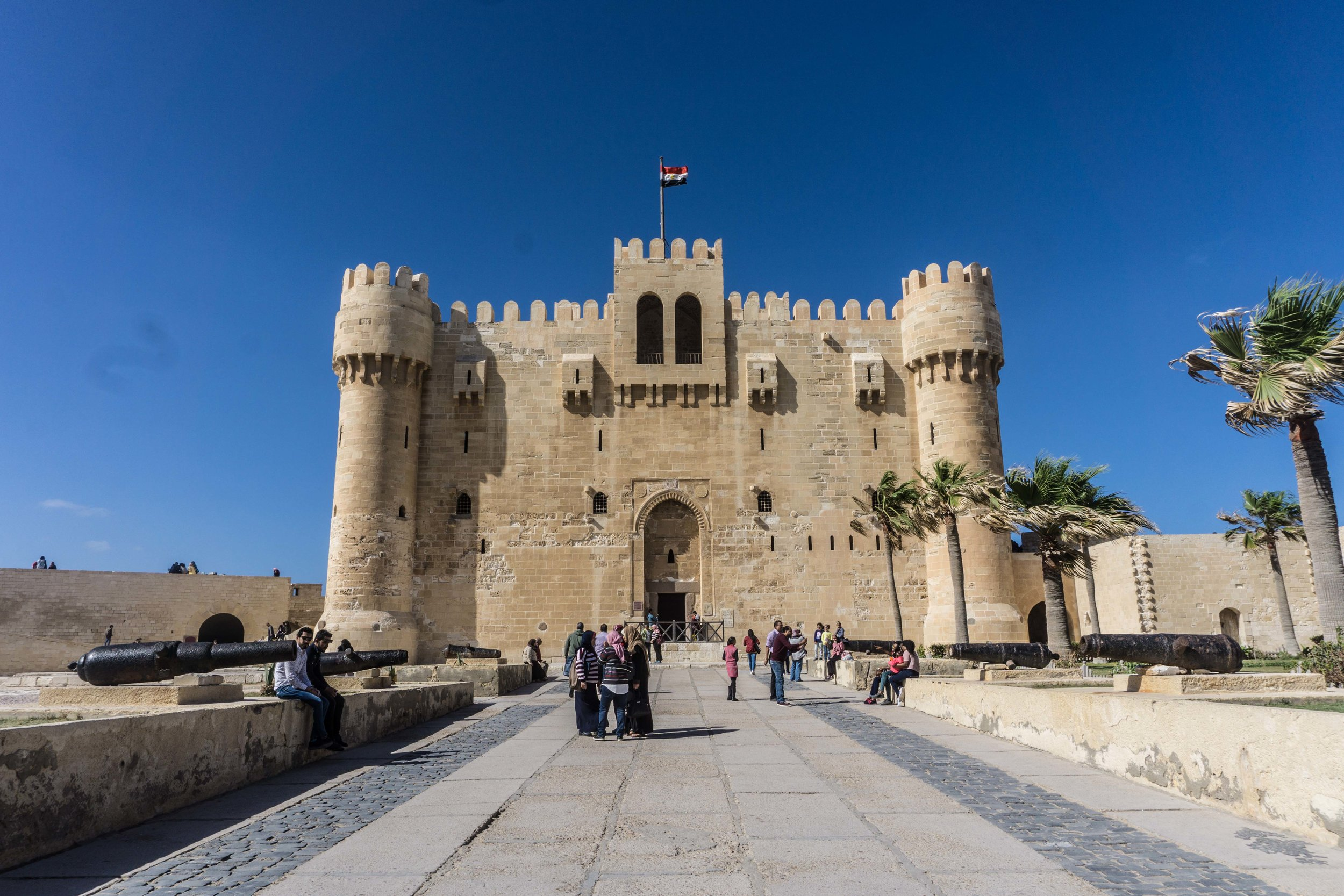 Citadel of Qaitbay - built on the foundations of the Lightout of Alexandria