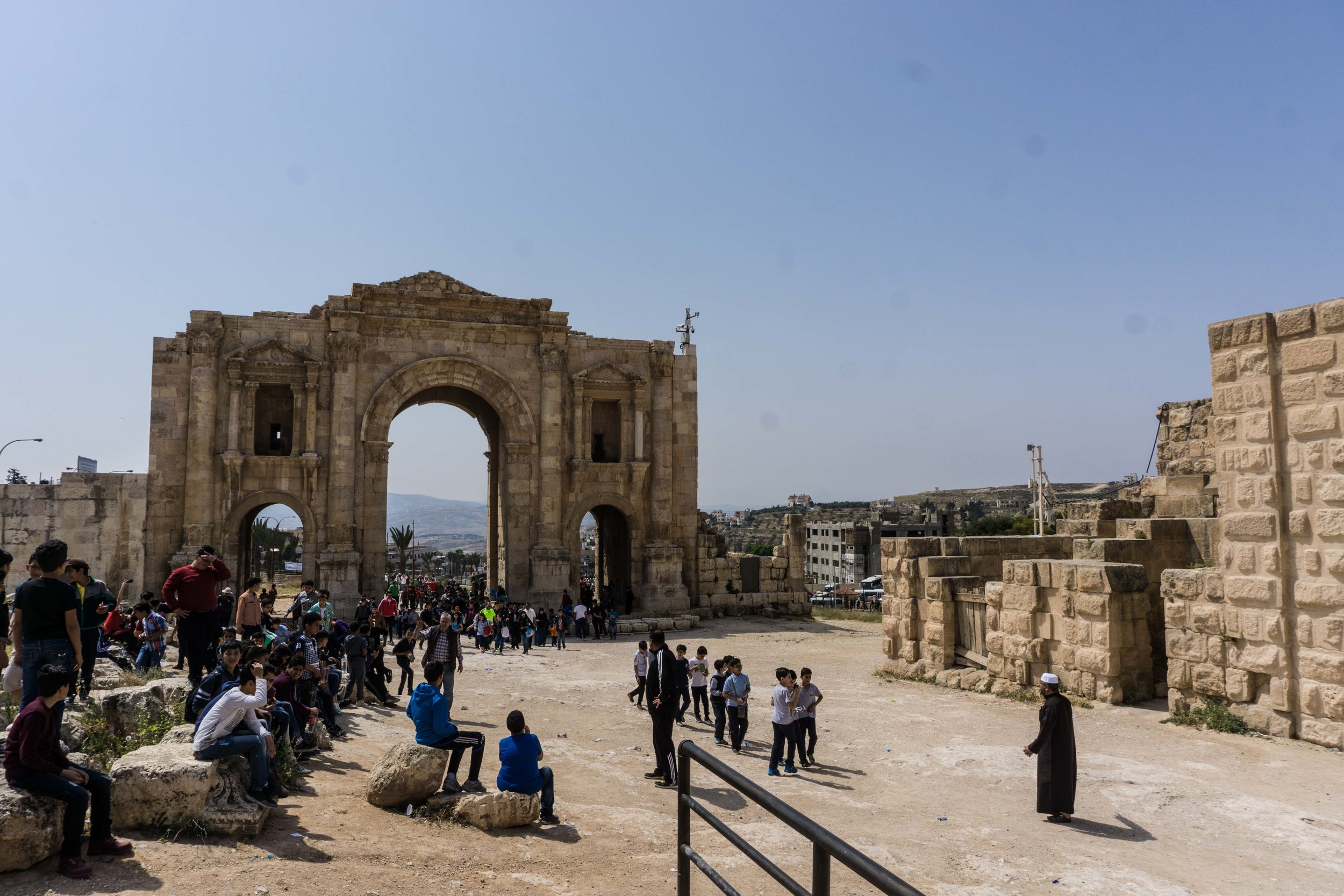 Jerash with 1000 middle school boys