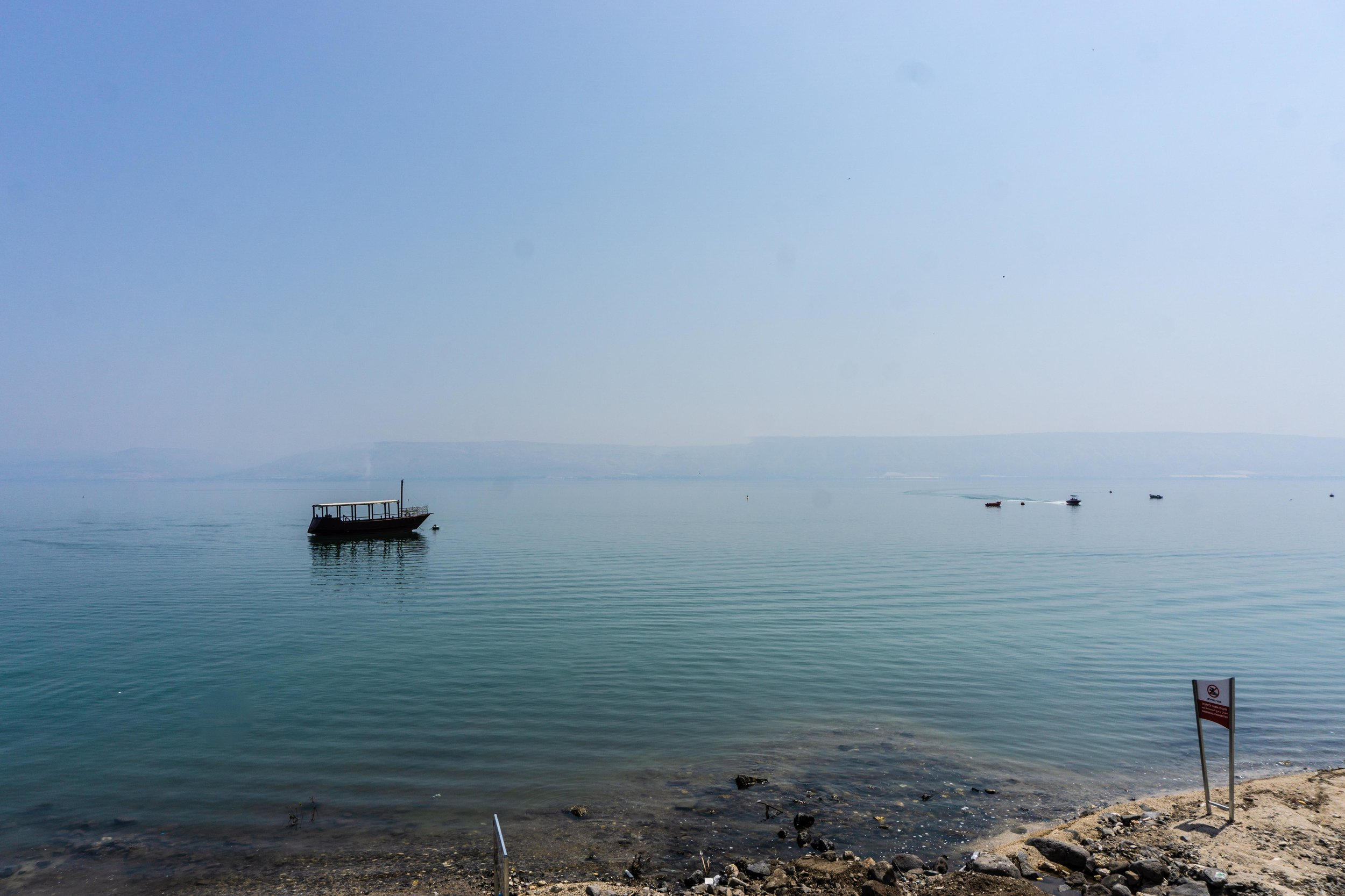 Sea of Galilee - it's smaller than we thought