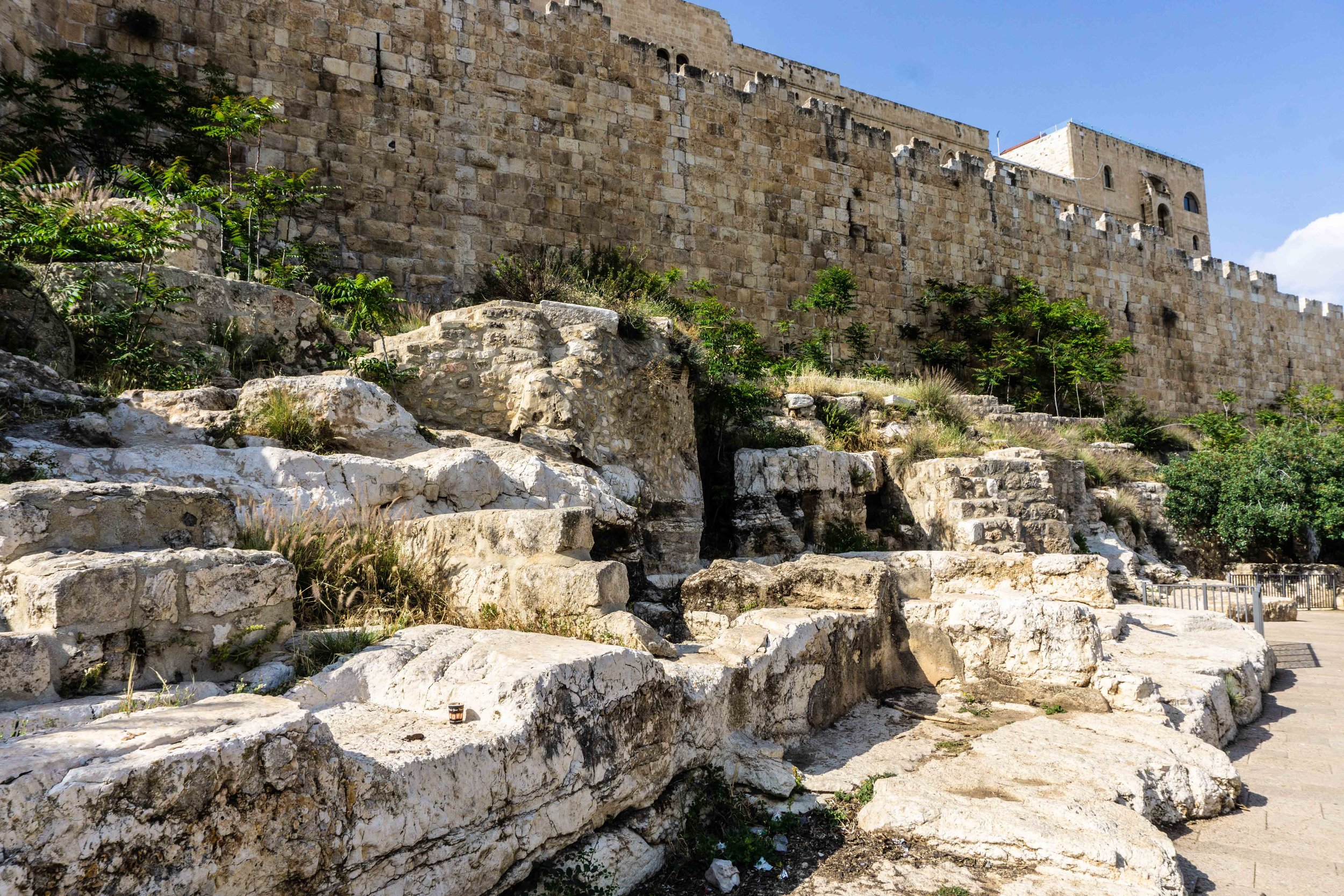 Hovels outside the Jerusalem city walls (where the lepers were cast)