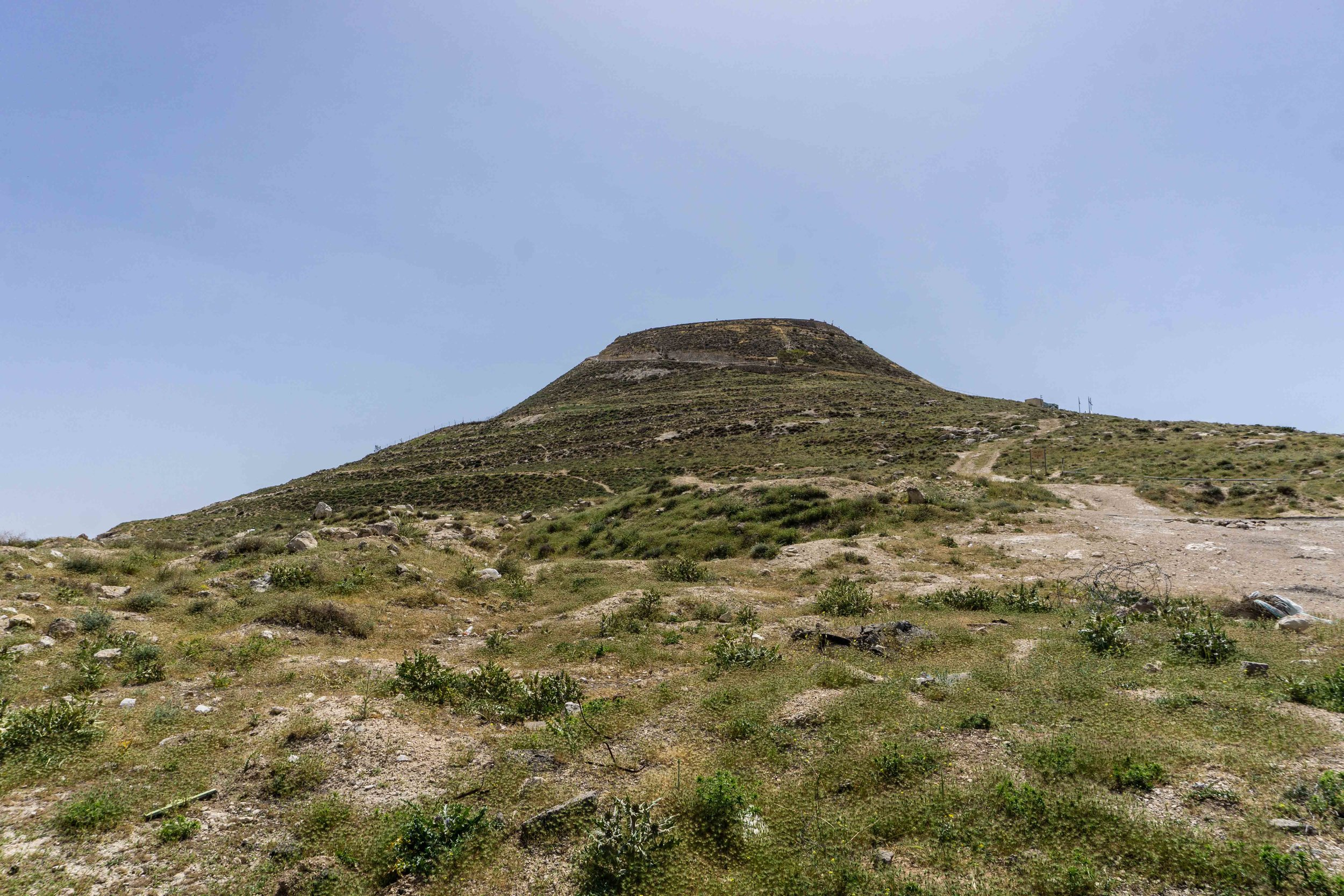 Herod actually had this mountain built, it wasn't like this