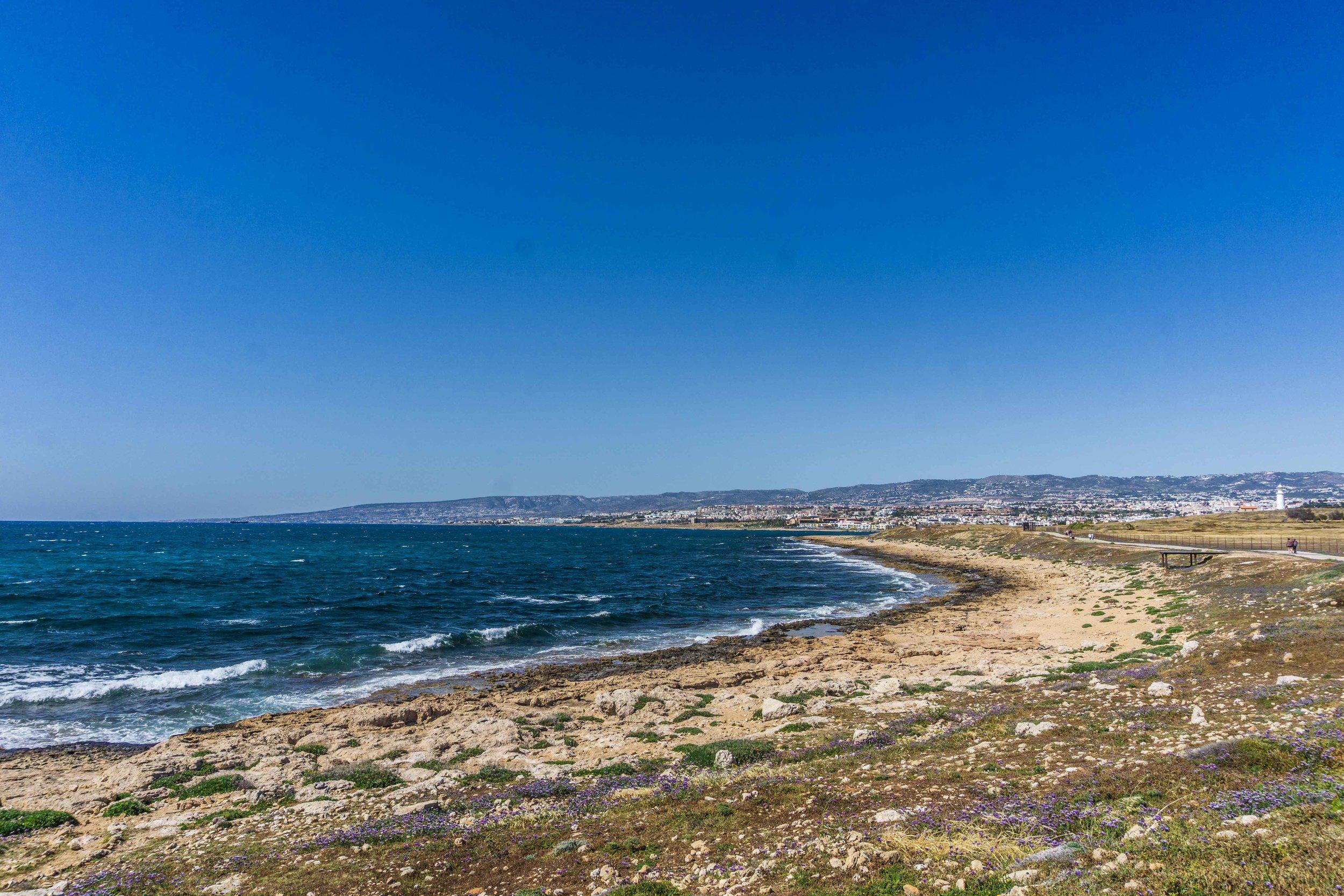 Beach along Pathos