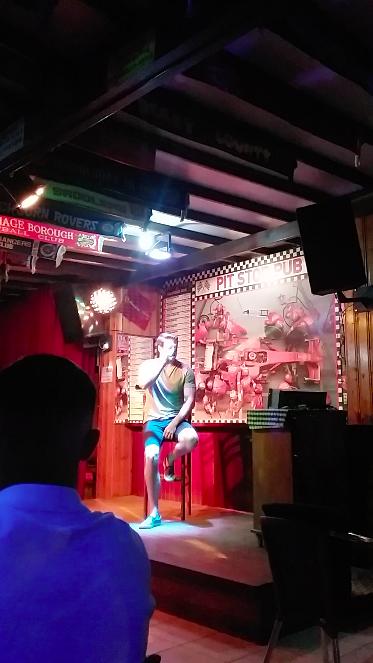 Travis does Karaoke!