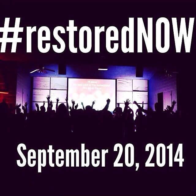 High School Students join us for worship September 20th for an engaging night of worship. More details coming soon. In the mean time check out www.restoredconferences.org