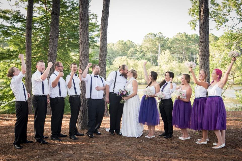 - Wedding Planner: Direct My Day Direct Photographers: The Wedding ClickVenue: The Lake House at BulowMakeup: Alter-Image, Jasmine JonesHair: Alter-Image, Shelby Colclough