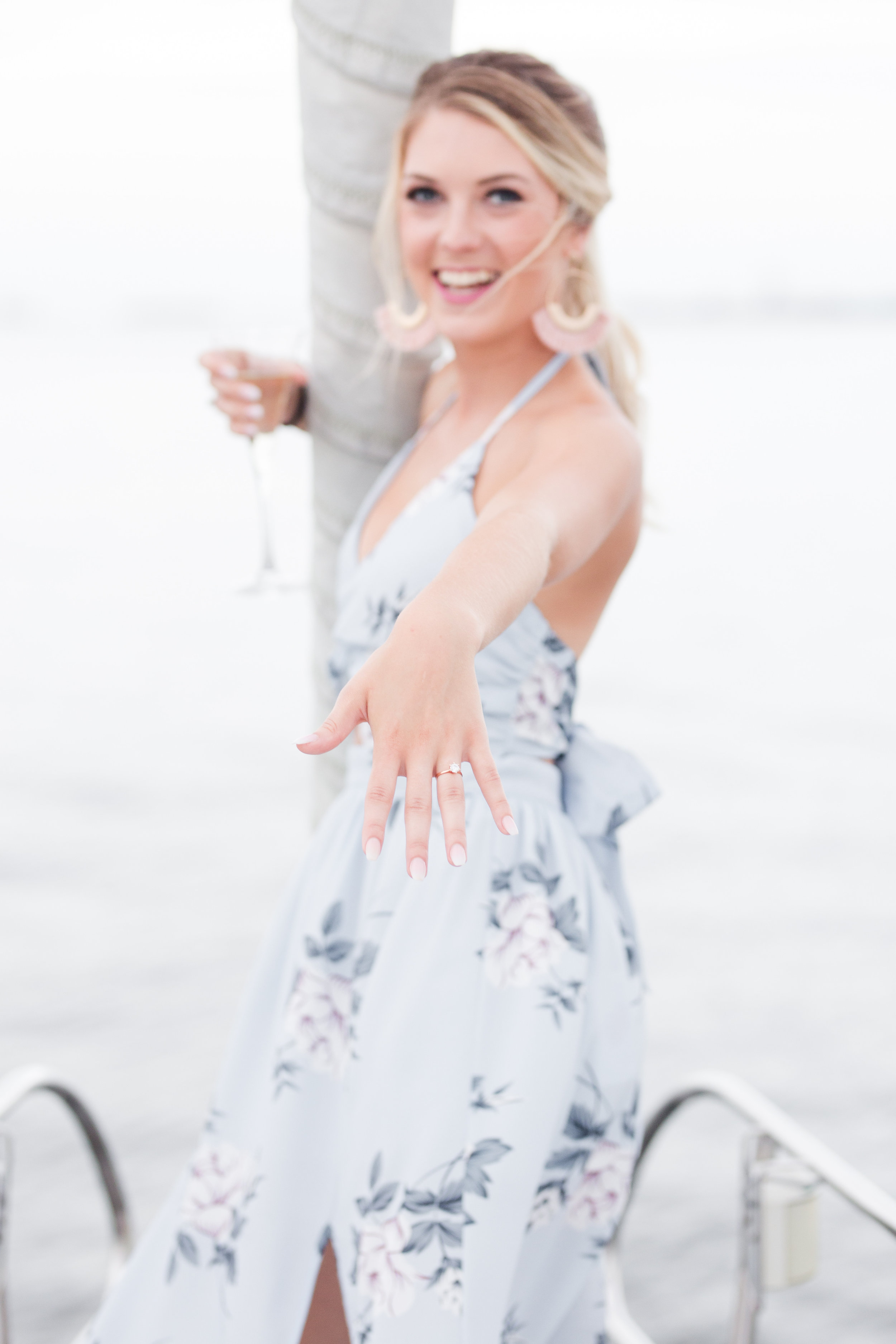 Photo Credits:   Jenna Grace Photography  Planning: Emma Allen Photography and Sara Beach Photography  Charleston Yachts  Styled Well Boutique  Models: Ashton Crow and Patted Drake