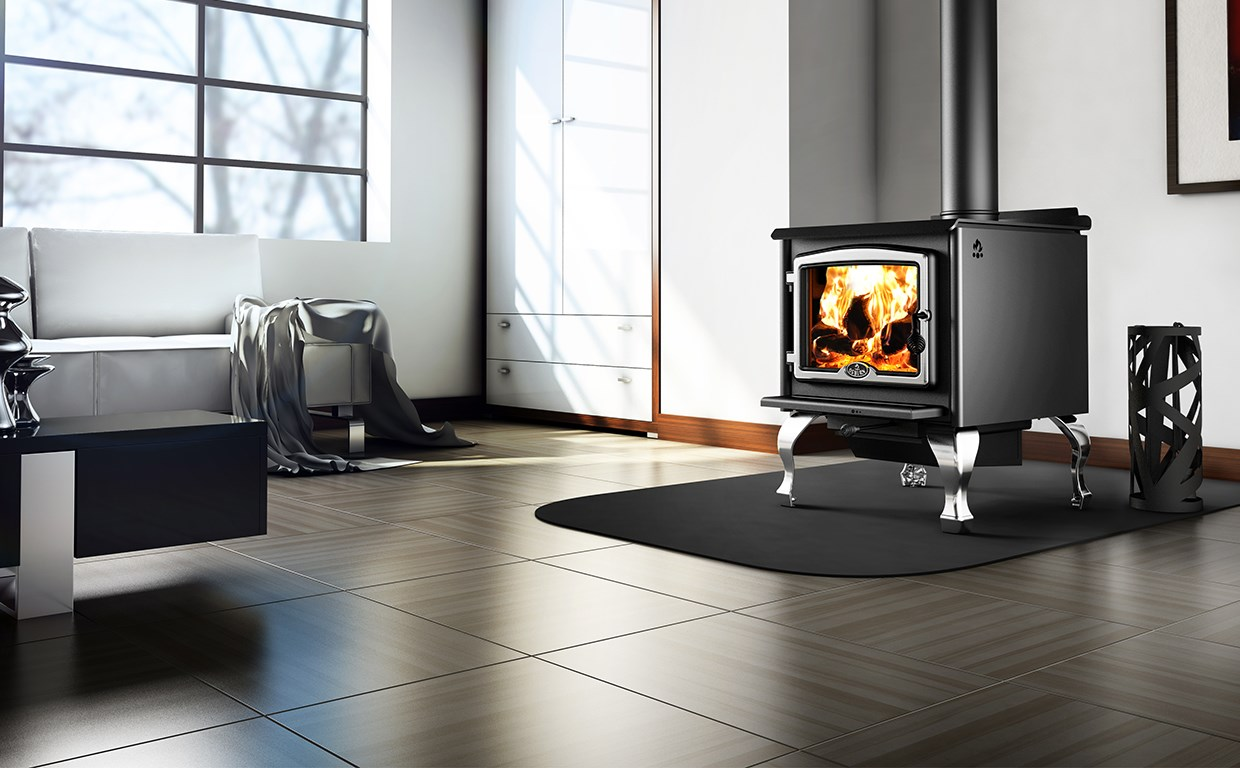 Freestanding Wood Stoves can have a traditional or contemporary look.