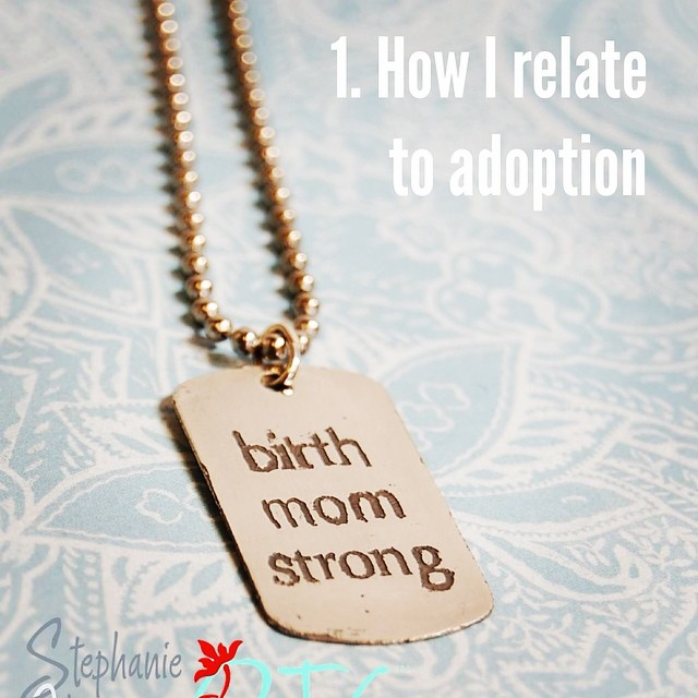 #btgadoption   1. How I relate to adoption. I am a birth mom. I am coming up on 9 years post placement. AND to kick off this month, back by popular demand, we are returning our   #birthmomstrong   dog tag to the shop!! Get yours today for yourself or for the birth mom in your life!!