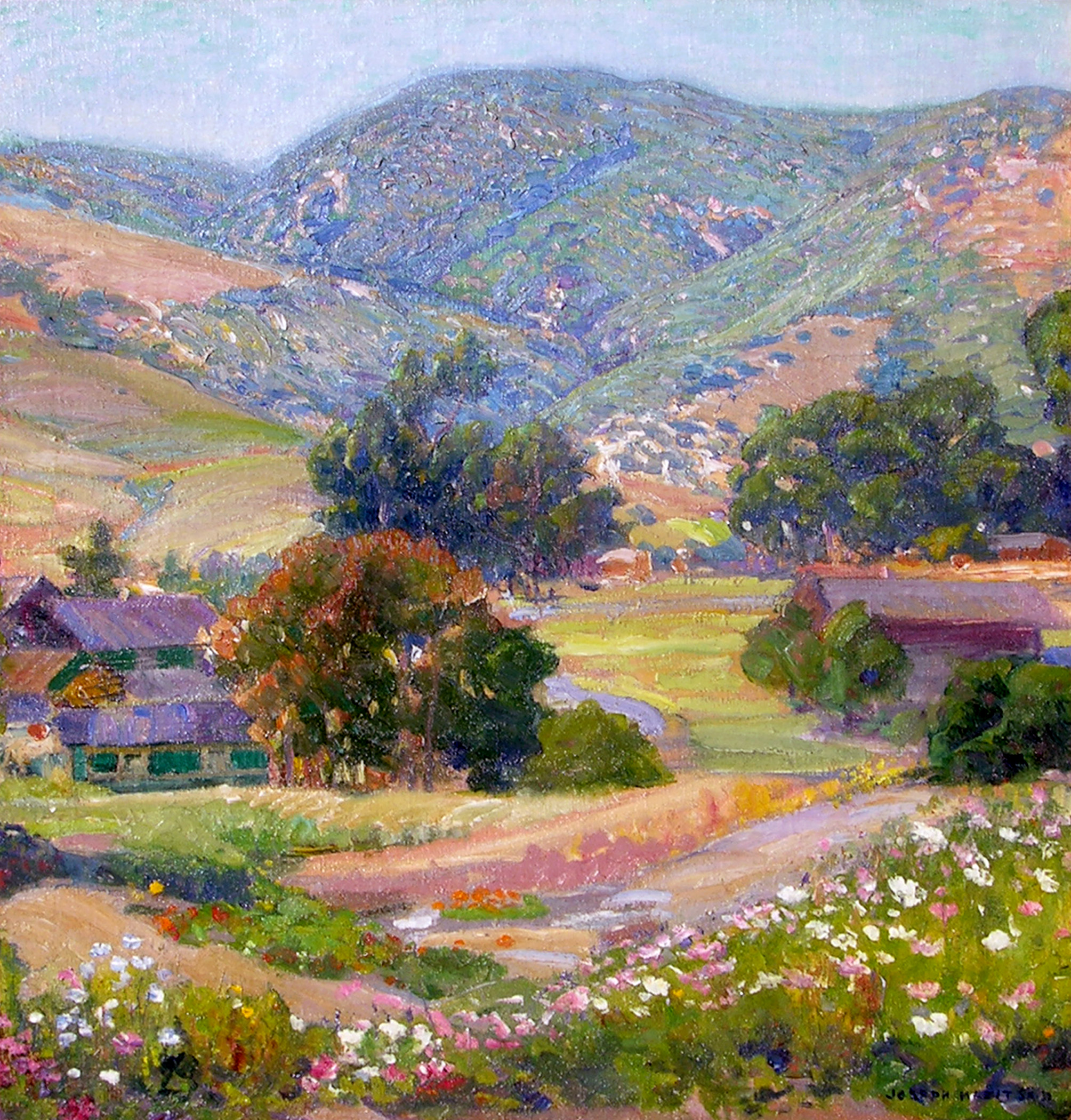Jeweled Hills   / Oil on Canvas, 26 x 24 in. / Private Collection