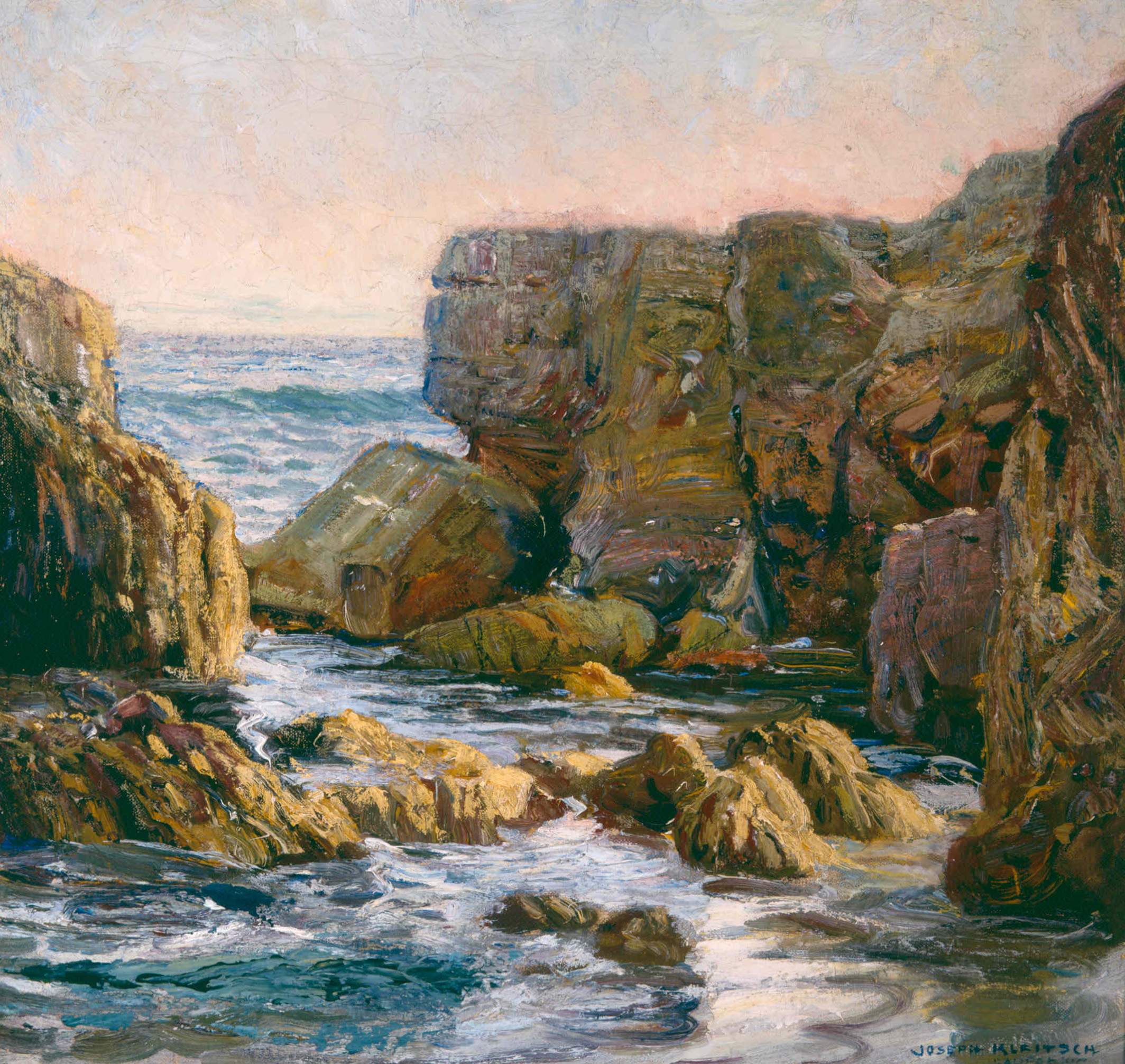 Rocky Cove, Laguna   / Oil on Canvas, 21 x 22 in. / Private Collection