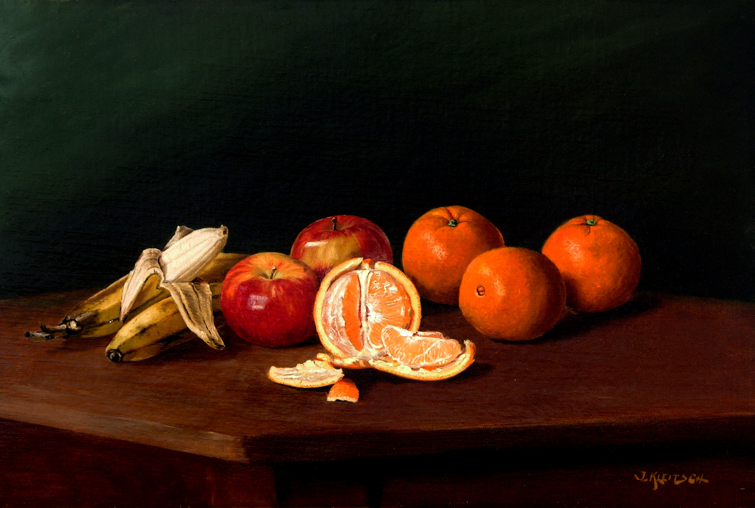 Still Life with Fruit   / Oil on Canvas, 16 x 24 in. / Private Collection