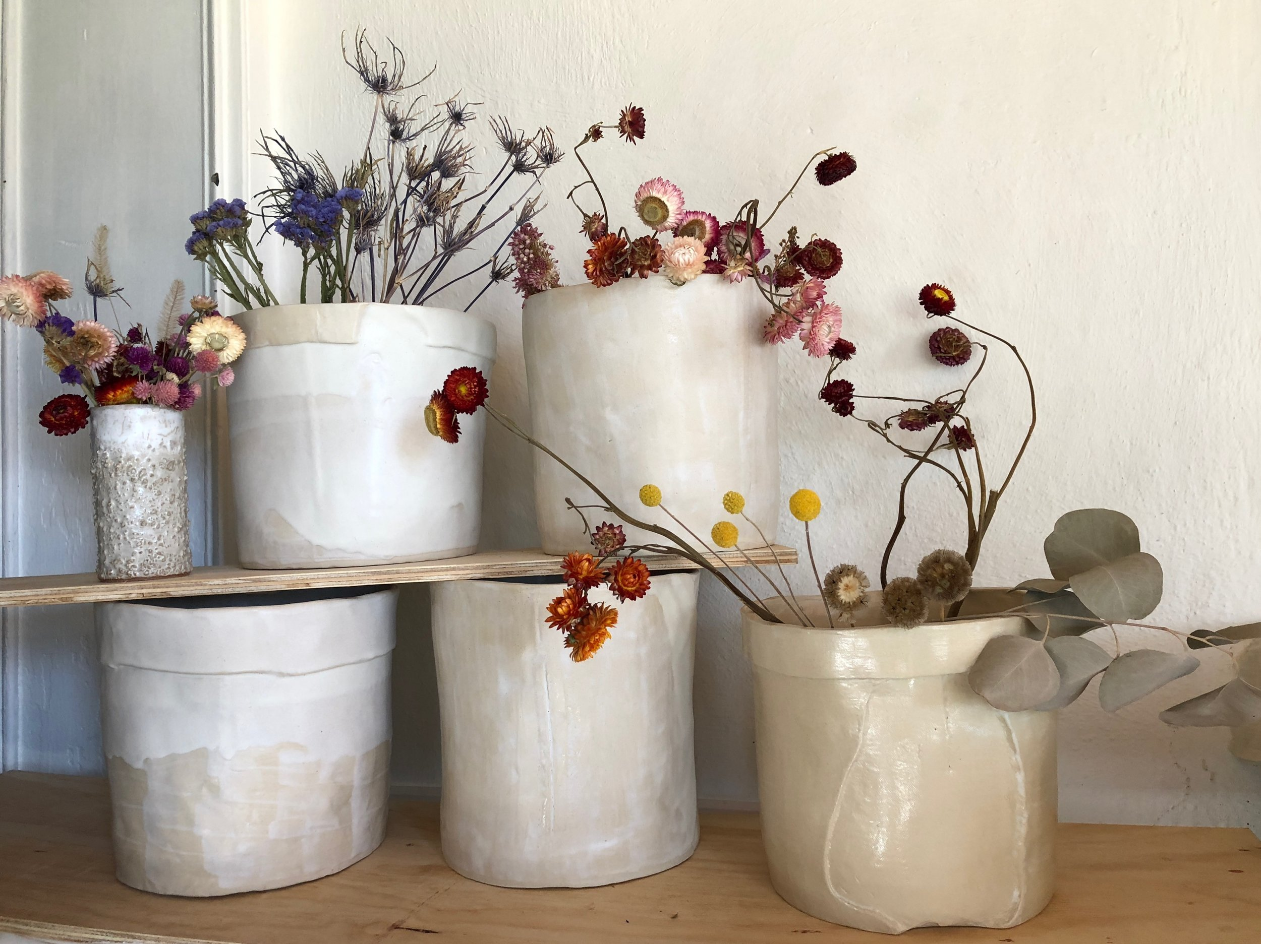 stoneware planters