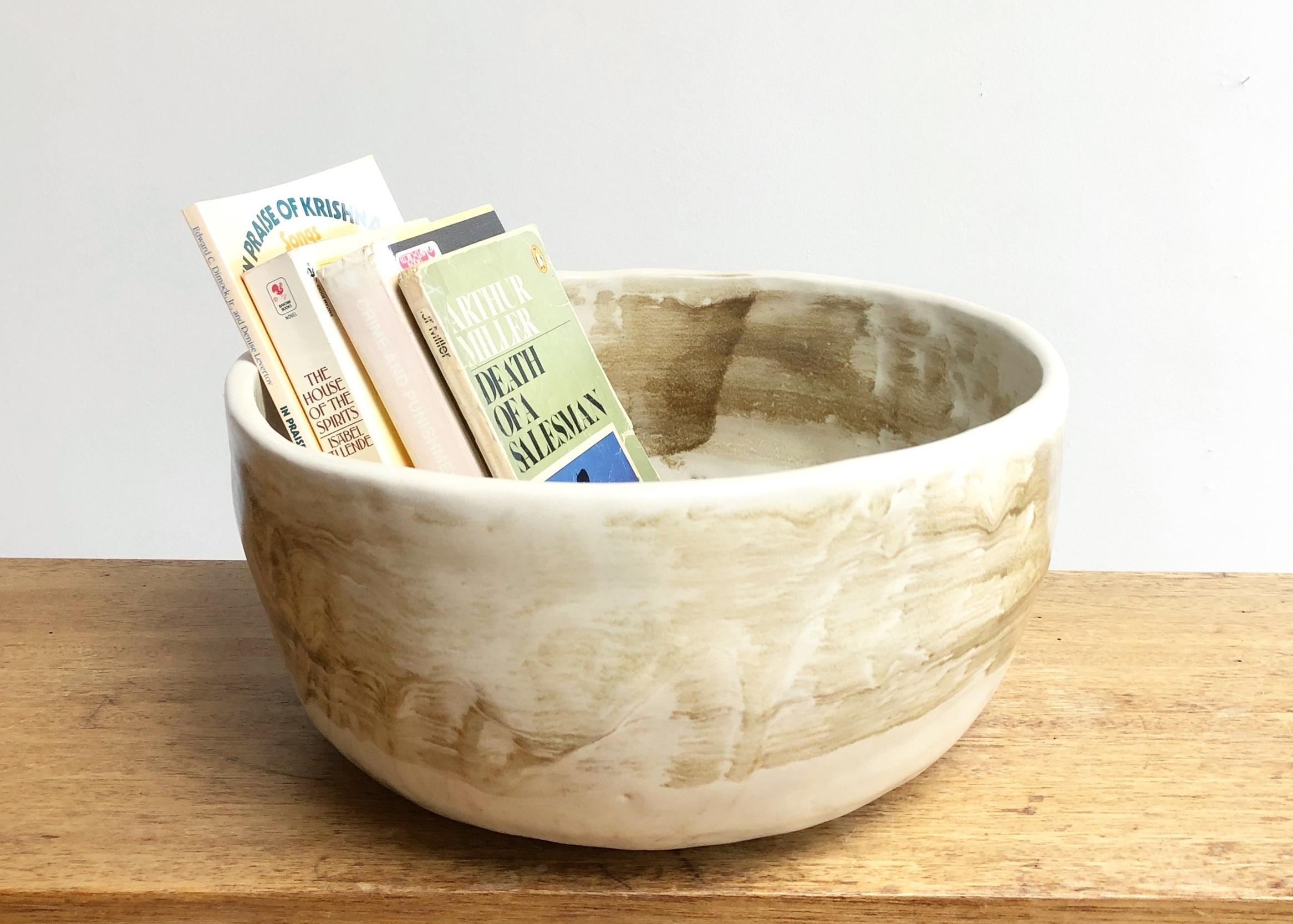 handbuilt bread bowl