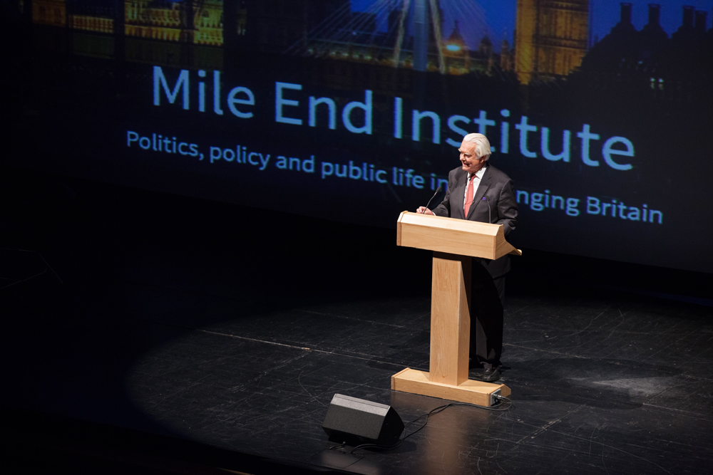 Lord Owen at Queen Mary Univeristy, Mile End