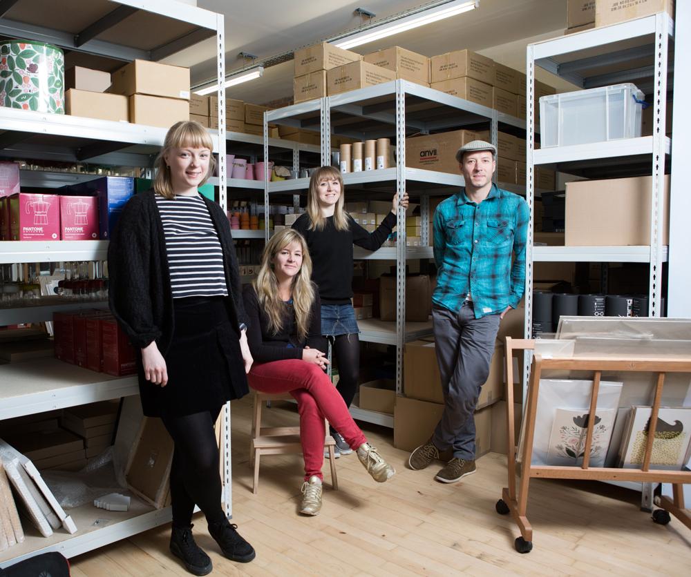 Howkapow team in their warehouse/studio in Bristol