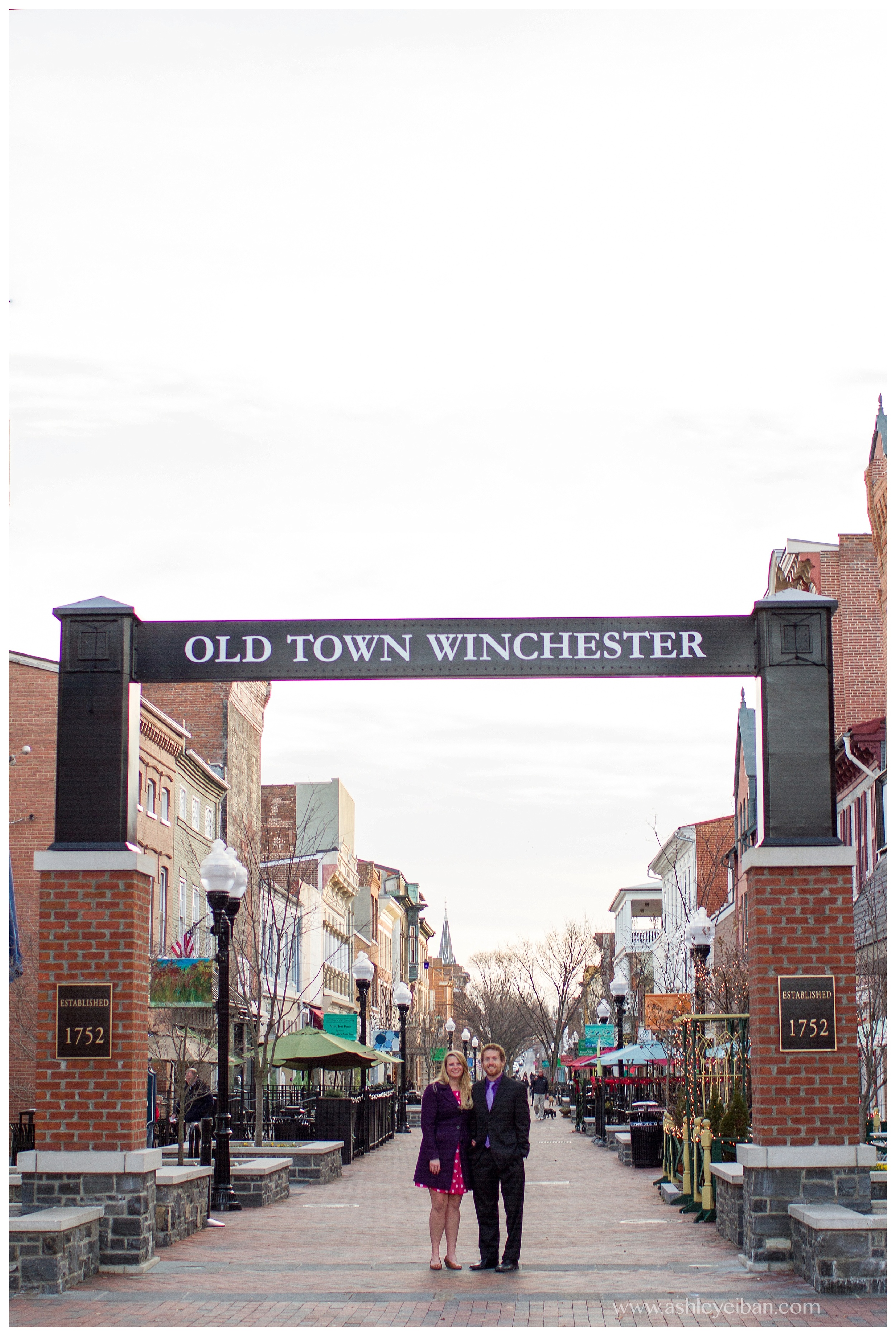 downtown winchester, virginia engagement shoot