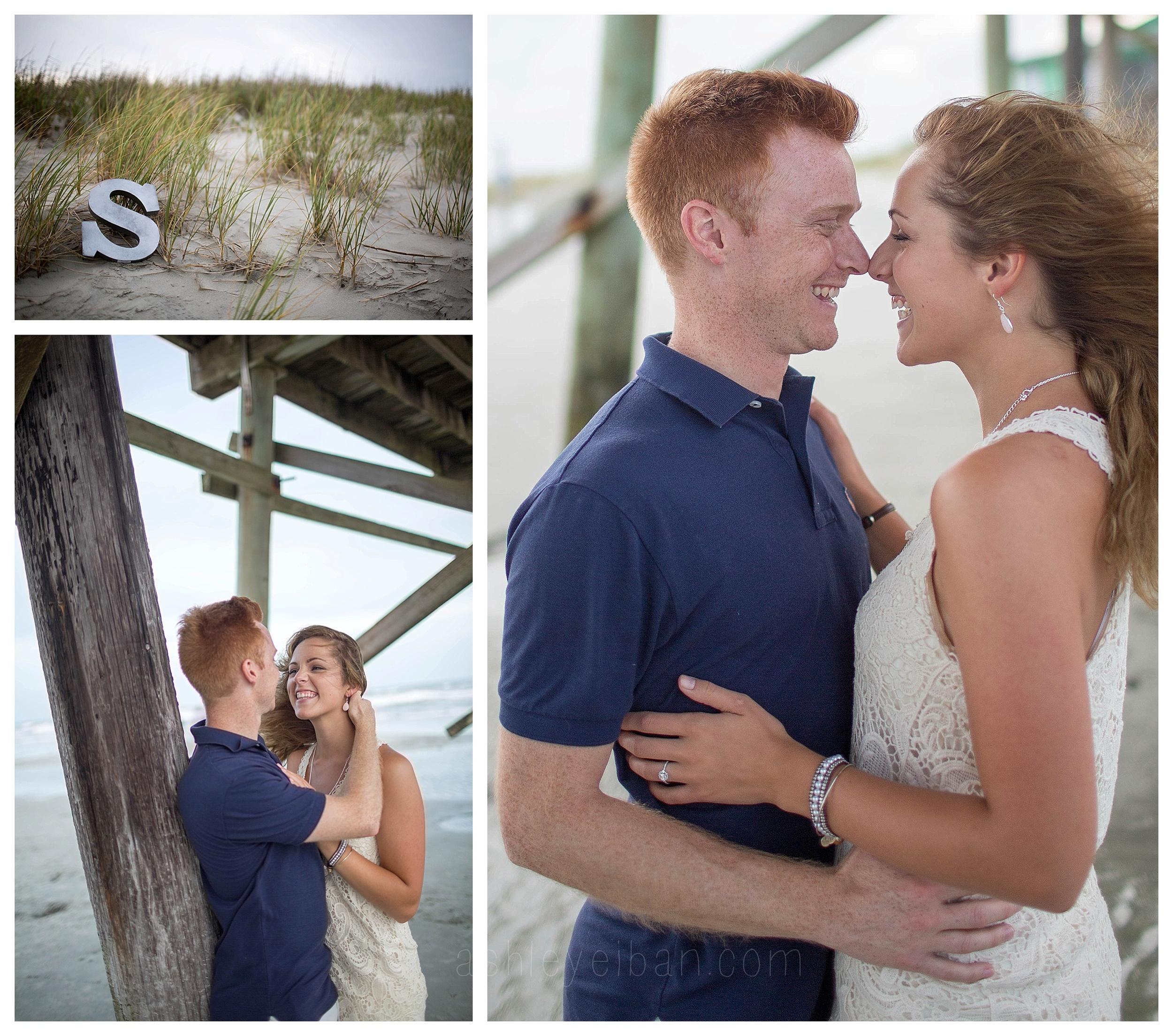Sunset Beach Wedding and Portrait Photographer || Sunset Beach North Carolina || Beach Engagement Session || www.ashleyeiban.com