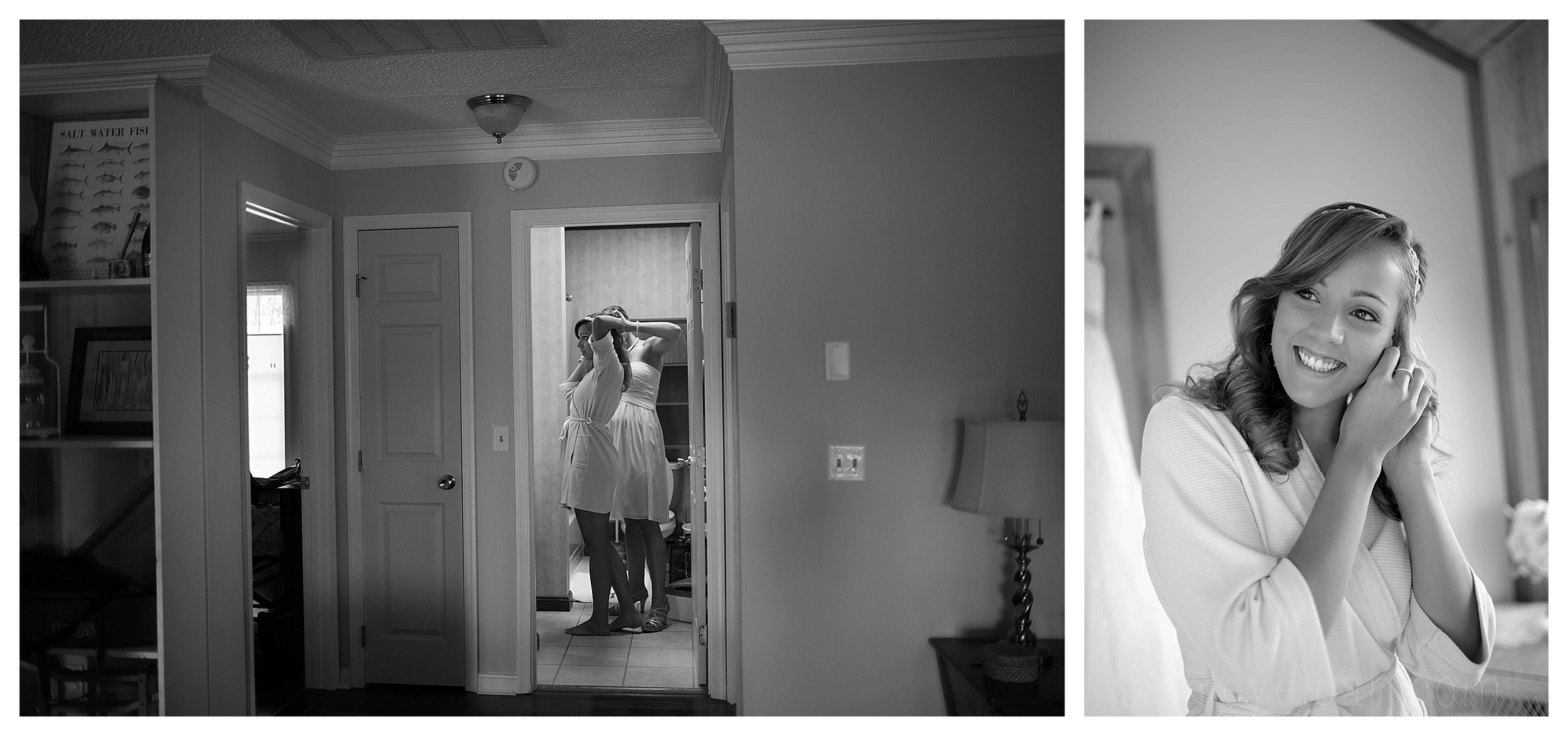 Bride Getting Ready || Nassau Valley Vineyard Wedding || Lewes, DE Wedding || Vineyard Wedding || Ashley Eiban Photography || www.ashleyeiban.com