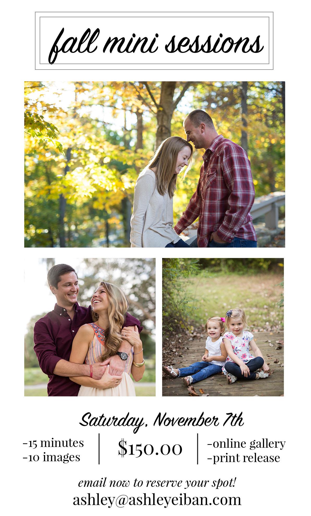 Fall Mini- Sessions || Lynchburg, Virginia Family Photographer || Ashley Eiban Photography || www.ashleyeiban.com