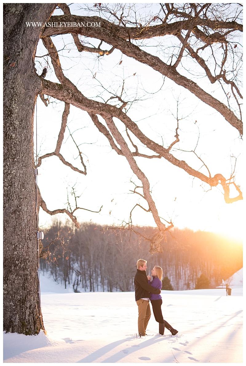 Lynchburg Virginia Engagement Session || Snow Engagement Session || Boonsboro Country Club || Lynchburg Wedding Photographer || Ashley Eiban Photography || www.ashleyeiban.com