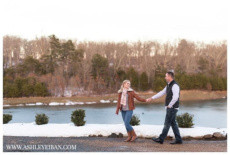 Winter Engagement Session || The Trivium Estates in Forest, Virginia || Lynchburg, VA Wedding Photographer || Ashley Eiban Photography || www.ashleyeiban.com