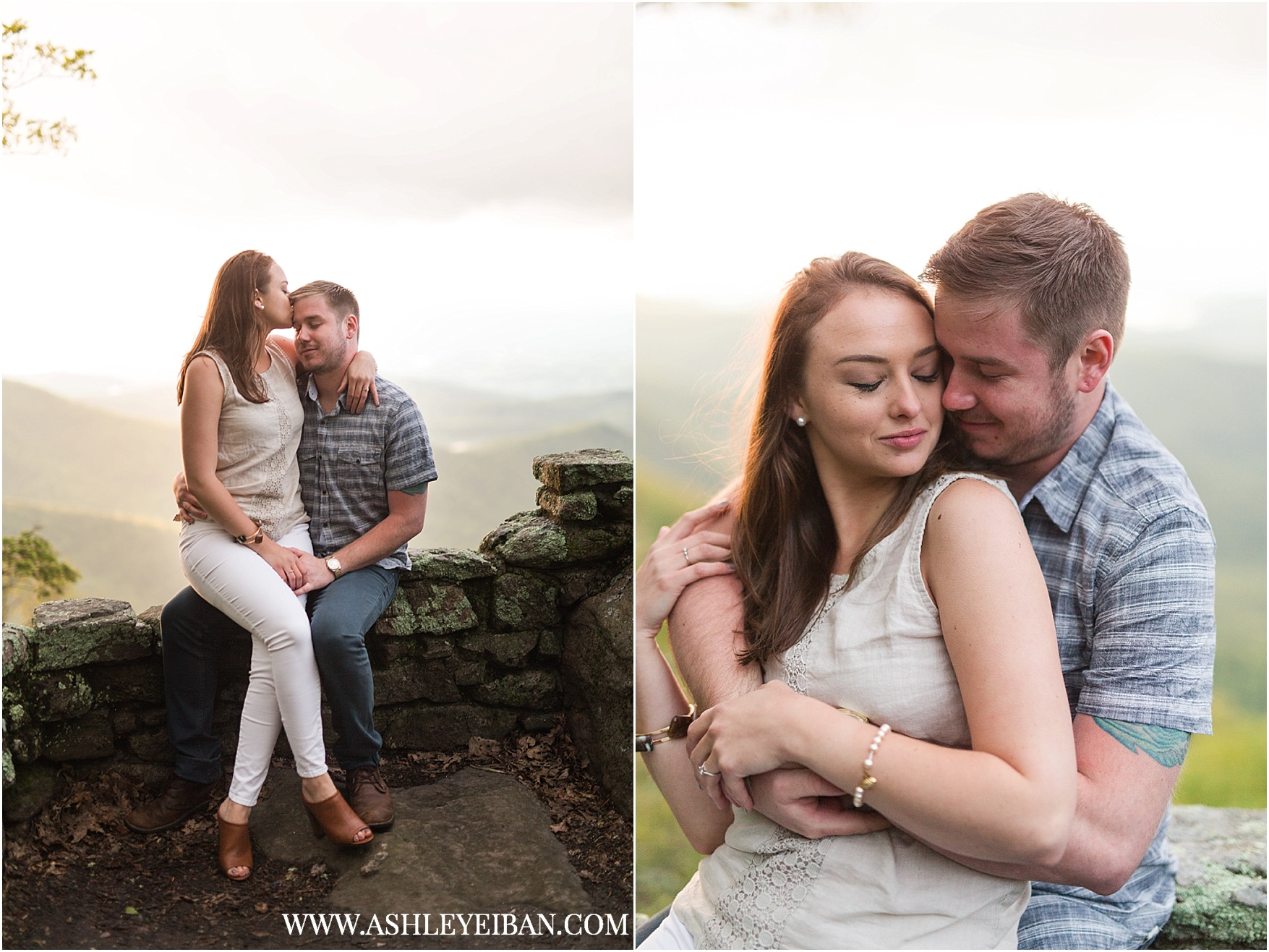 Mountaintop Engagement Session || Lynchburg Wedding and Engagement Photographer || www.ashleyeiban.com