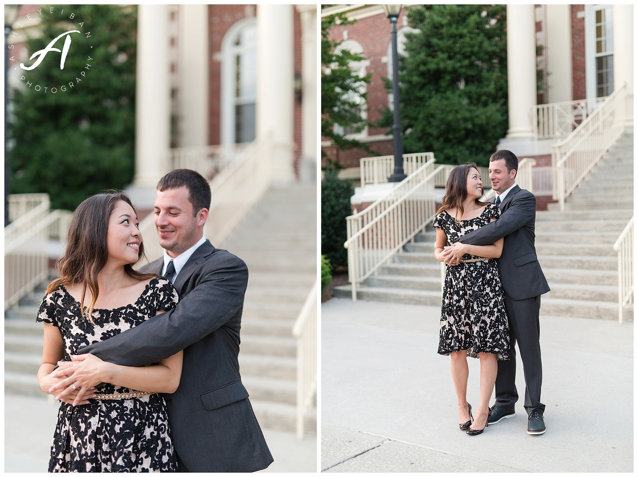 Radford University Engagement Photos || Lynchburg Wedding Photographer || Ashley Eiban Photography || www.ashleyeiban.com