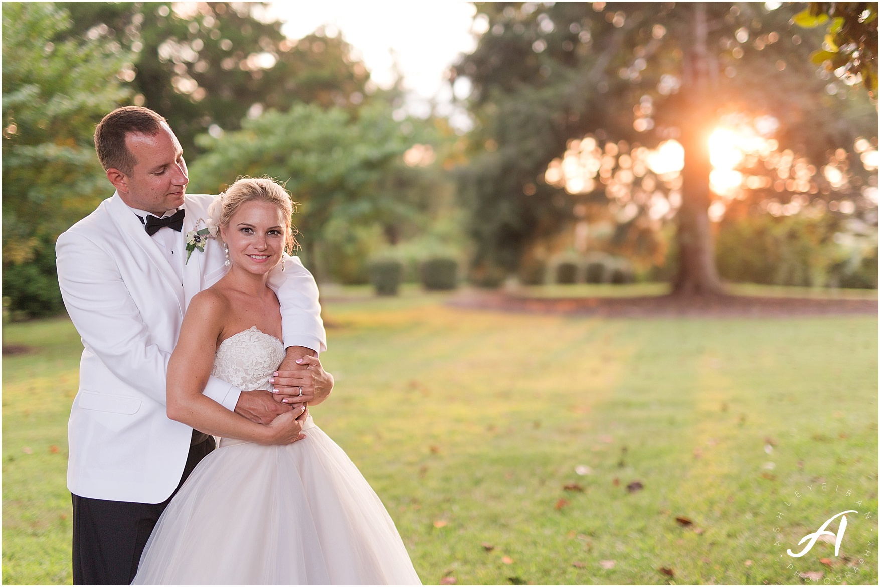 Elegant Blush and Gray Outdoor Wedding at The Trivium Estate in Forest, Virginia || Ashley Eiban Photography
